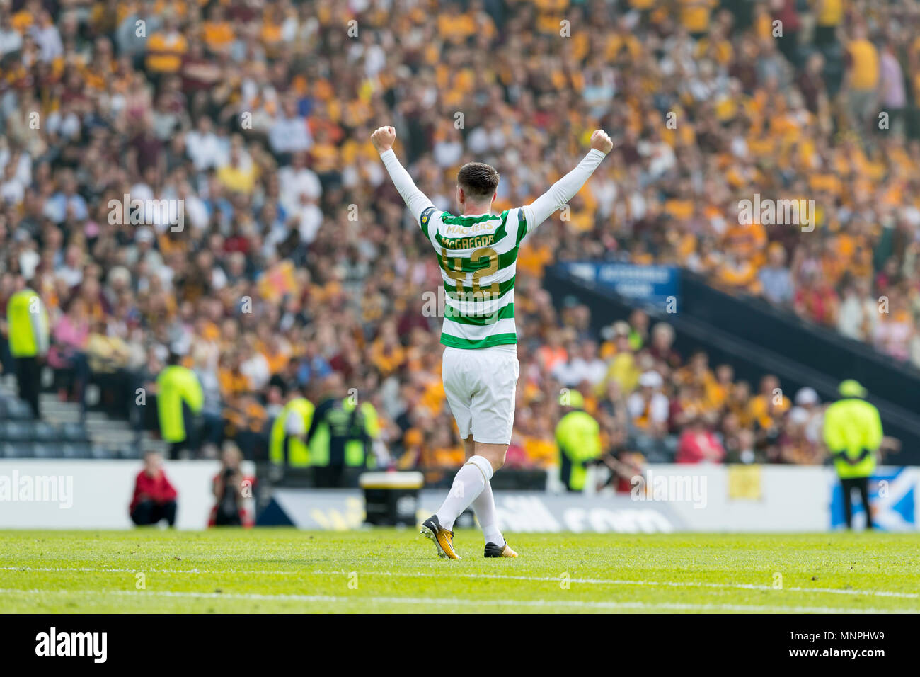 Hampden Park, Glasgow, UK. 19th May, 2018. Scottish Cup football final, Celtic versus Motherwell; Callum McGregor of Celtic celebrates at full time Credit: Action Plus Sports/Alamy Live News - Stock Image