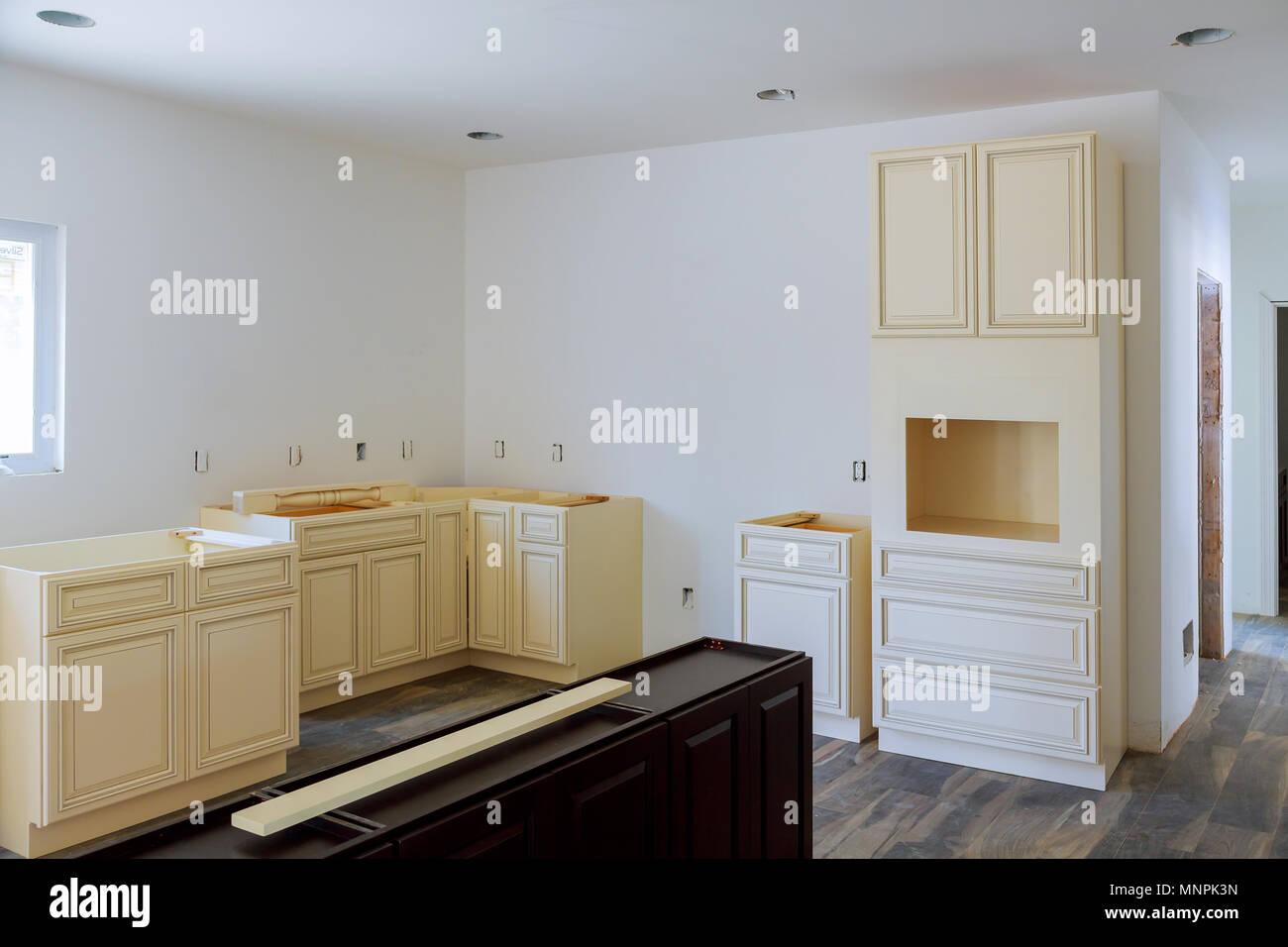 Kitchen cabinets installation Blind corner cabinet, island ...