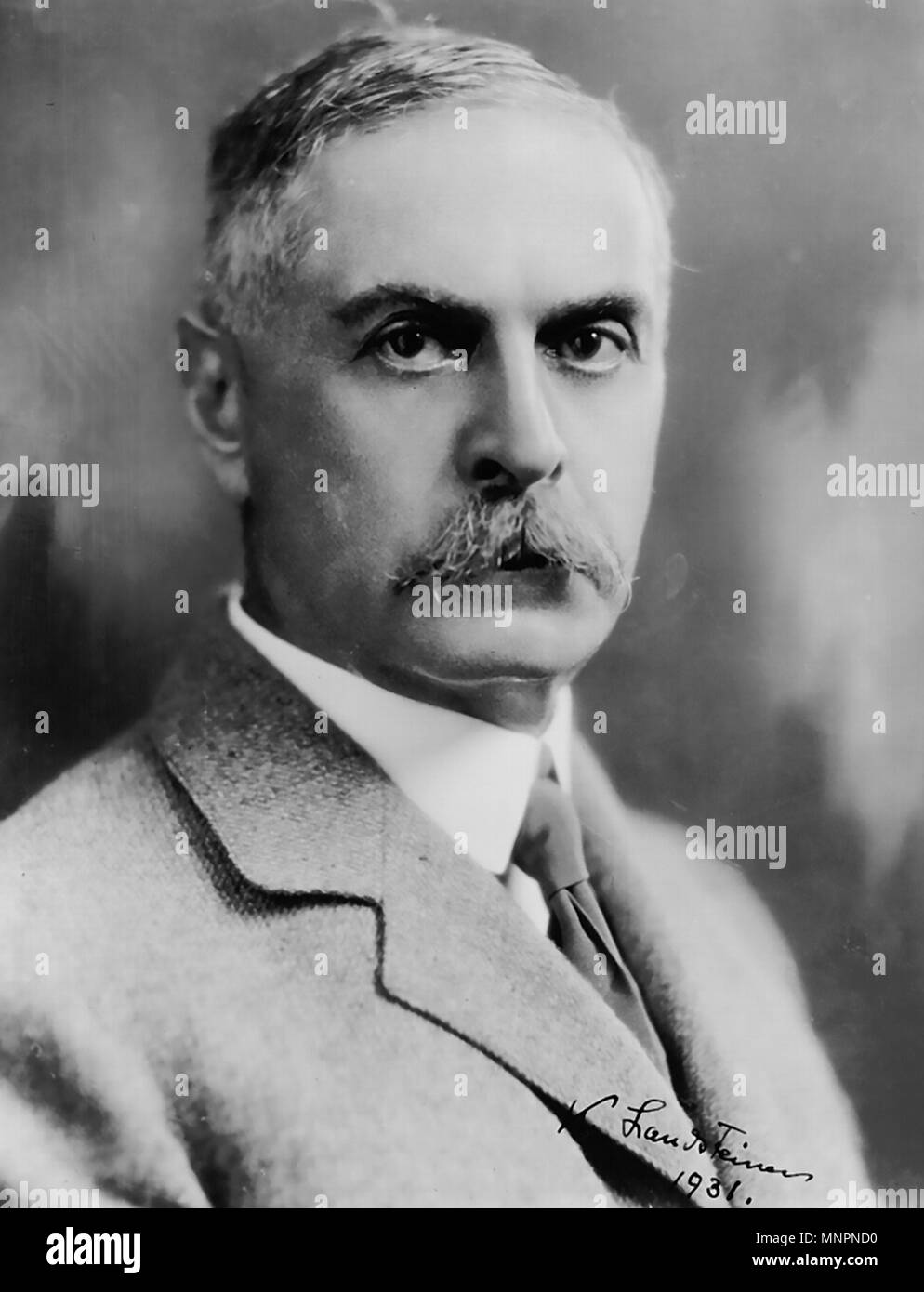 KARL LANDSTEINER (1868-1943) Austrian  and physician and biologist - Stock Image