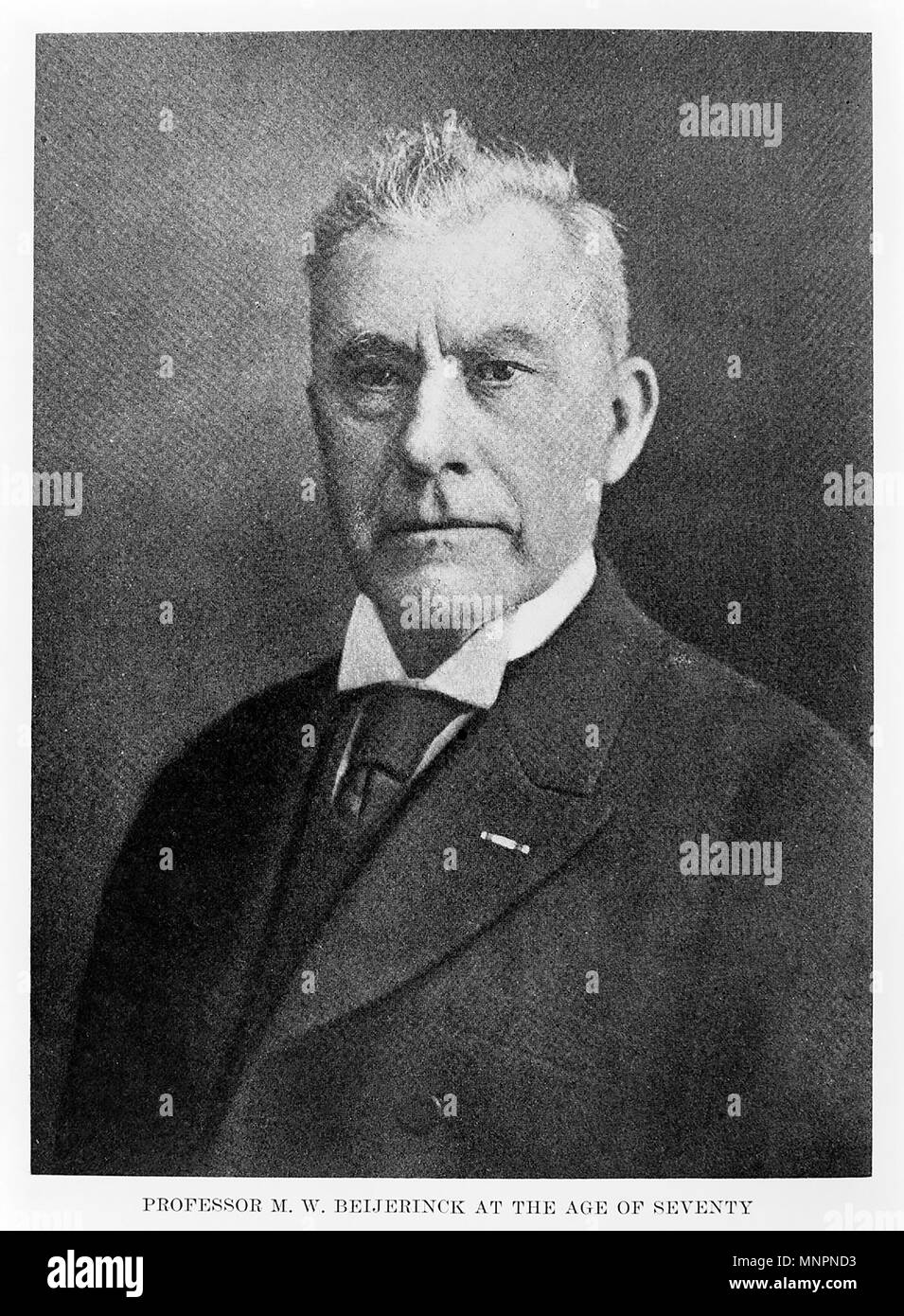 MARTINUS BEIJERINCK (1851-1931) Dutch microbiologist and botanist Stock Photo