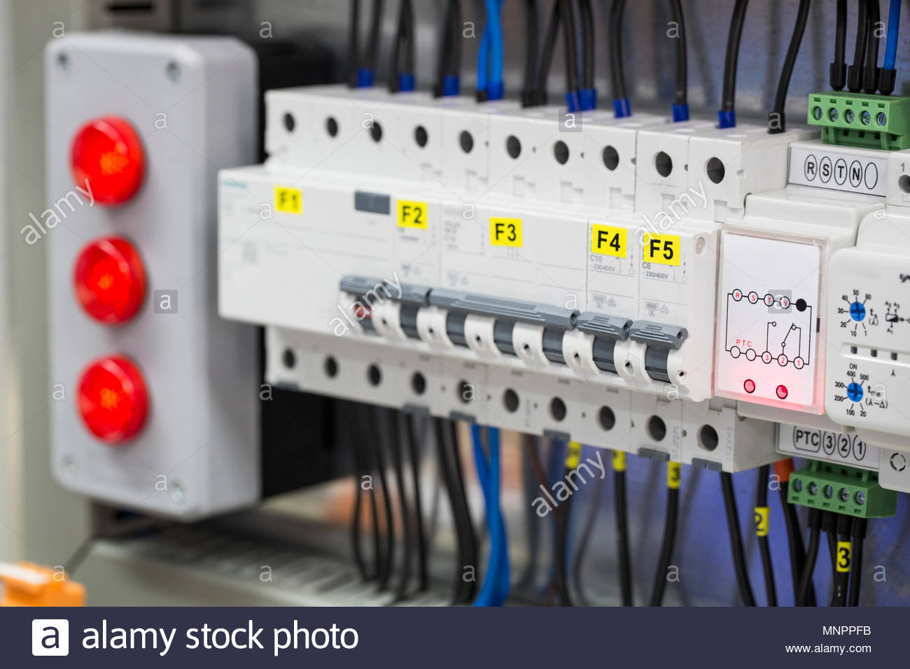 electrical and electronic systems, switches and relays - Stock Image