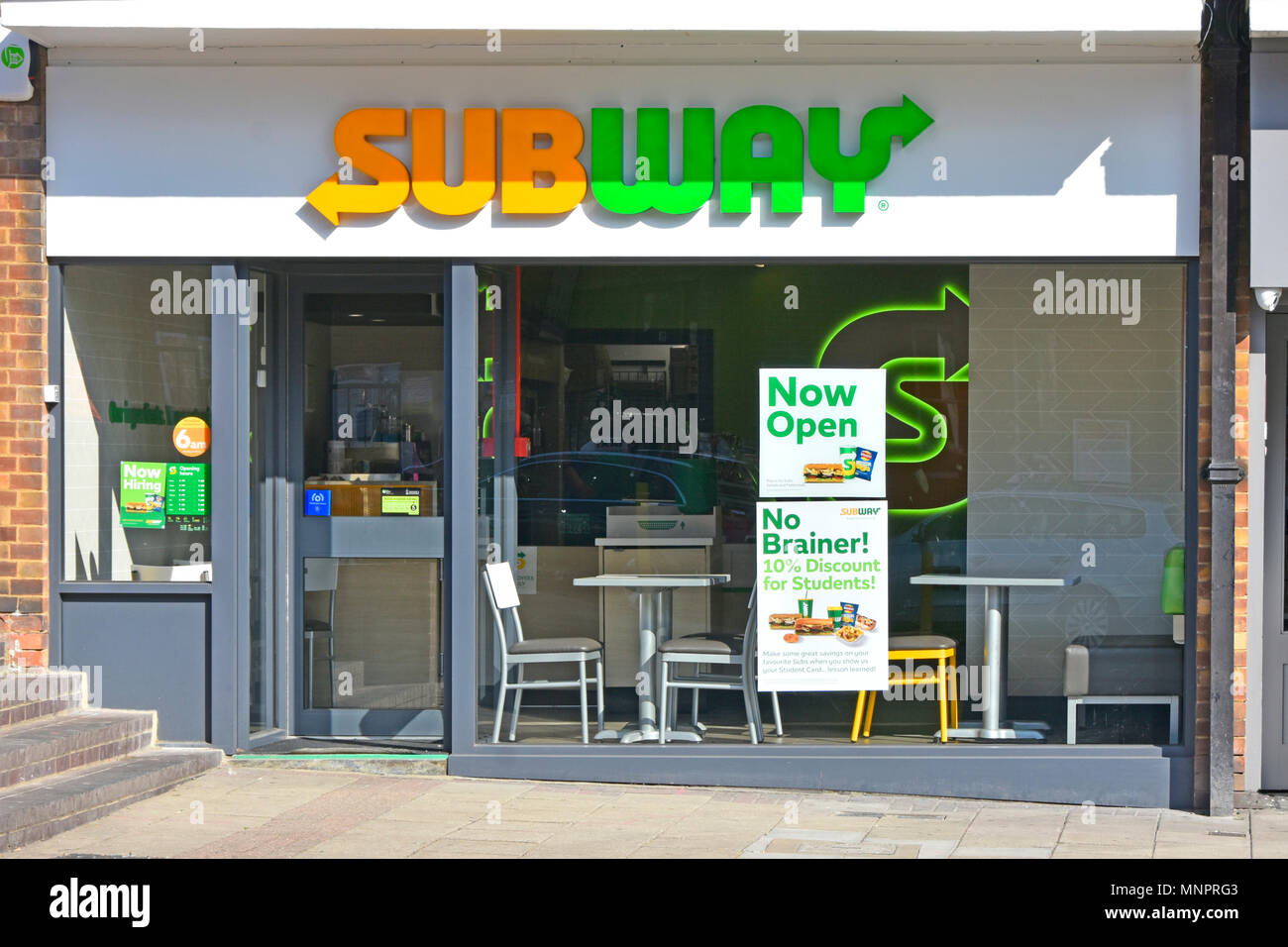 Just Opened New Franchise Branch With New Subway Brand Logo