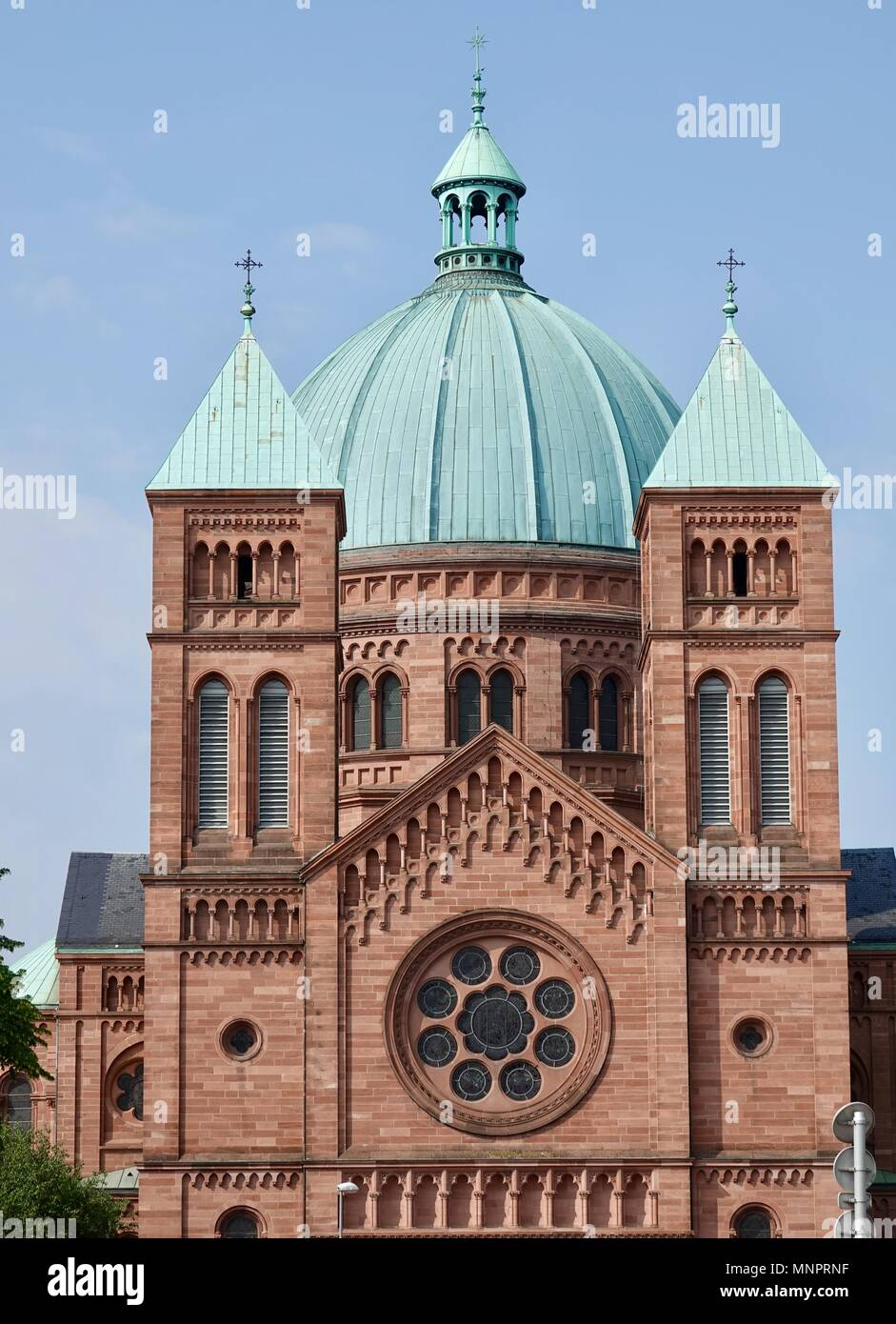 St. Peter the Younger Catholic Church, Strasbourg, France - Stock Image