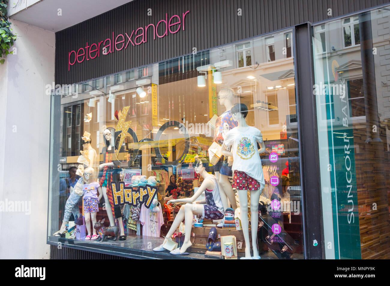 Peter Alexander sleepwear nightwear store in George street Sydney,Australia - Stock Image
