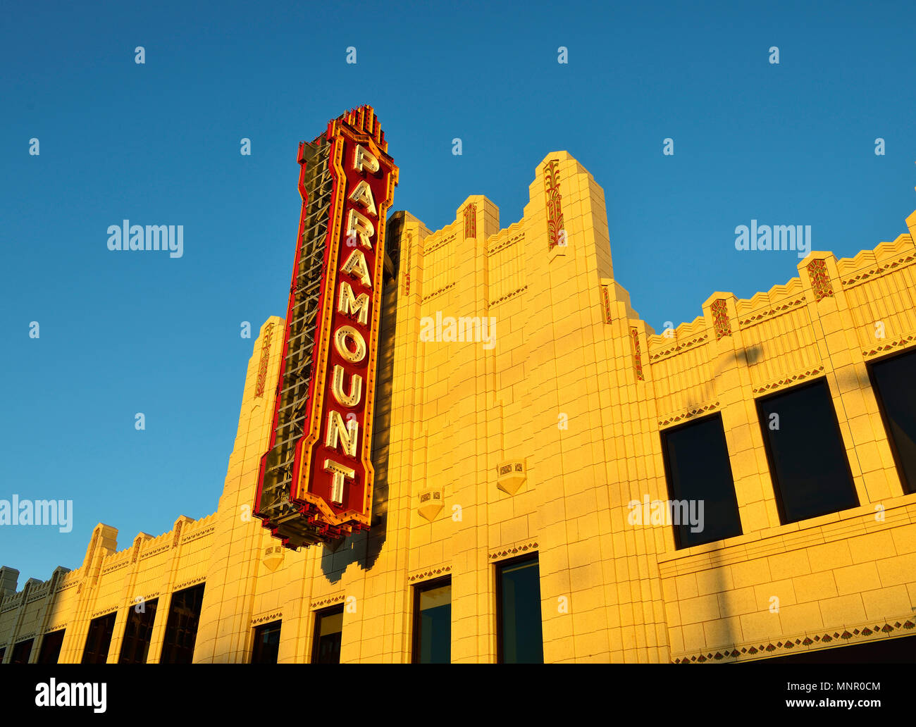 Paramount Cinema, Amarillo, Texas, USA - Stock Image
