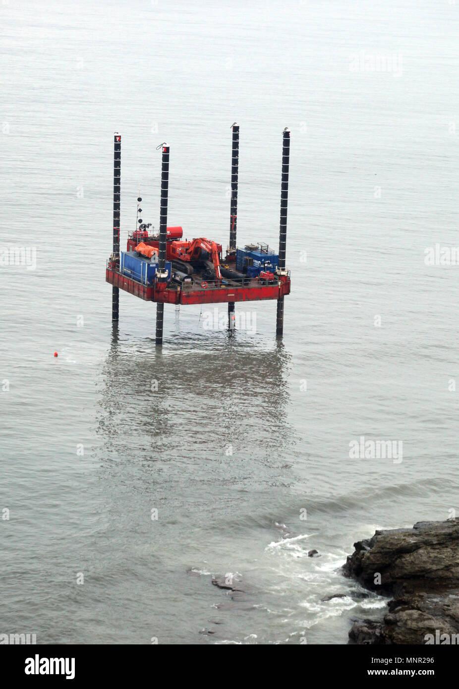 Pip repair rig North Sea Stock Photo