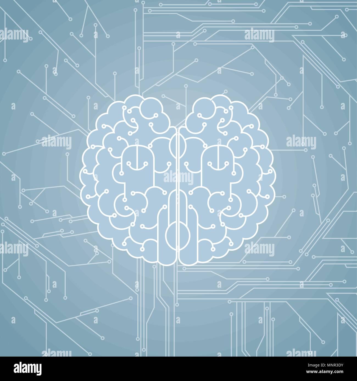 Big creative design concept, computer network. - Stock Image
