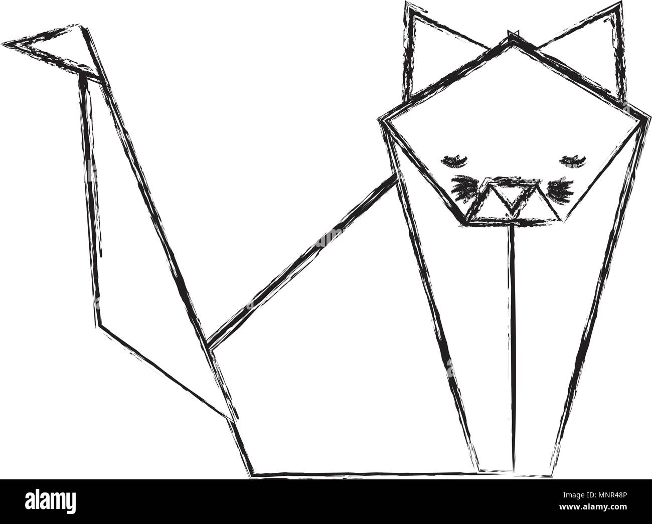 Cat Toy Stock Vector Images Alamy Origami Diagram Paper Icon