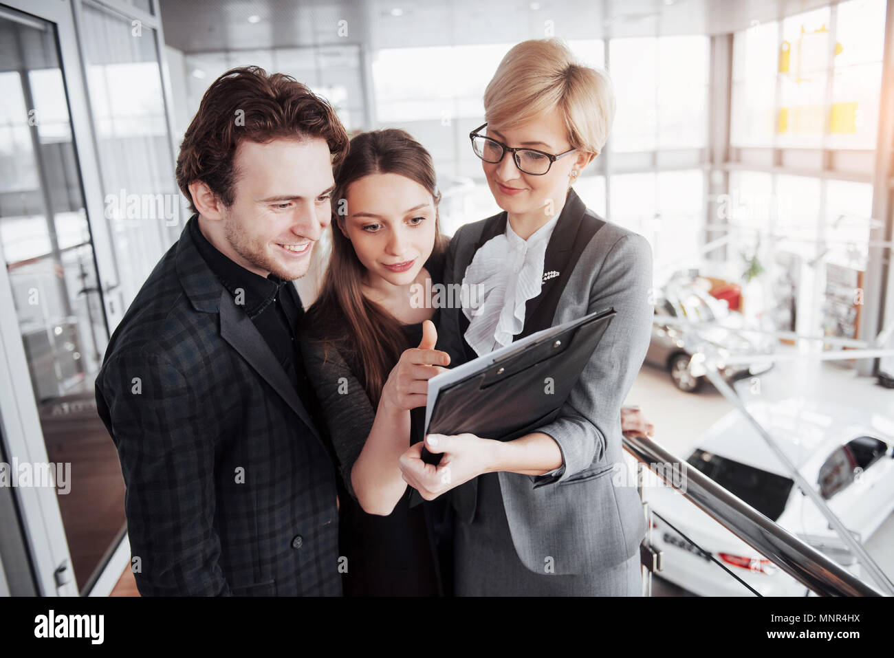 Start up business. Group of young architect at office. Team job - Stock Image