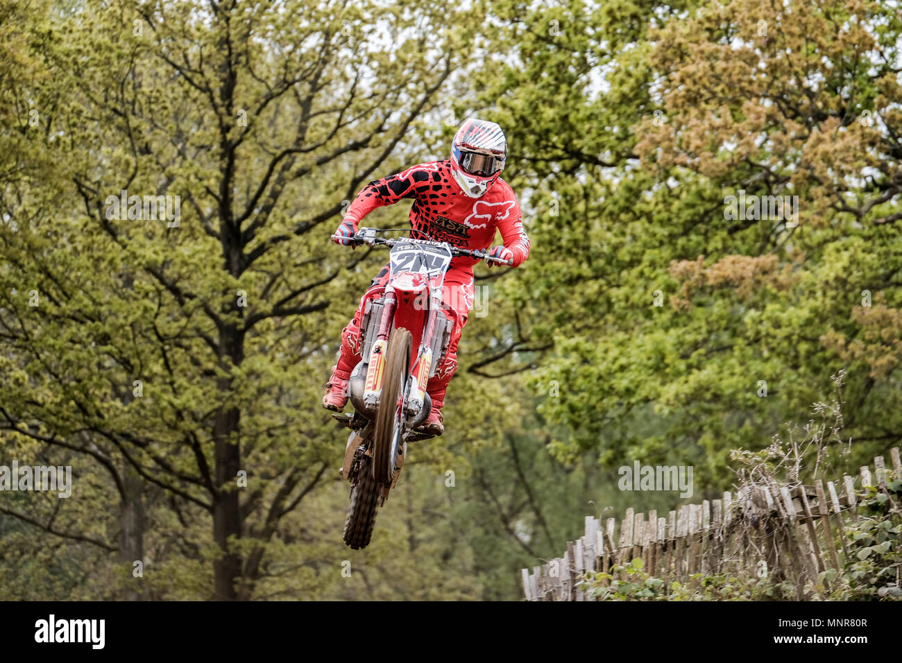 MX action from the 3rd round of the Maxxis British motocross championship at the Canada heights circuit - Stock Image