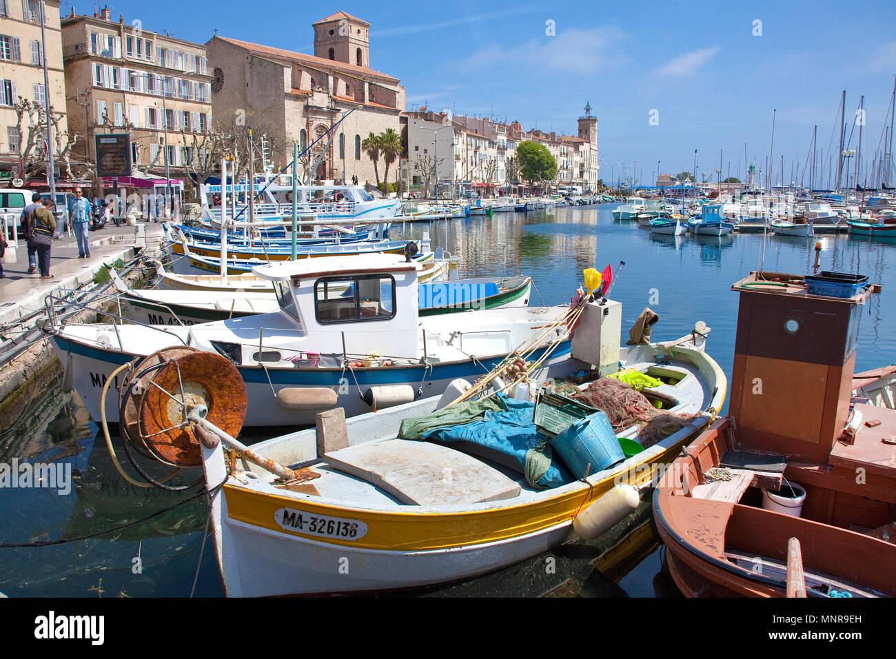 Fishing harbour of La Ciotat, Bouches-du-Rhone, Provence-Alpes-Côte d'Azur, South France, France, Europe Stock Photo
