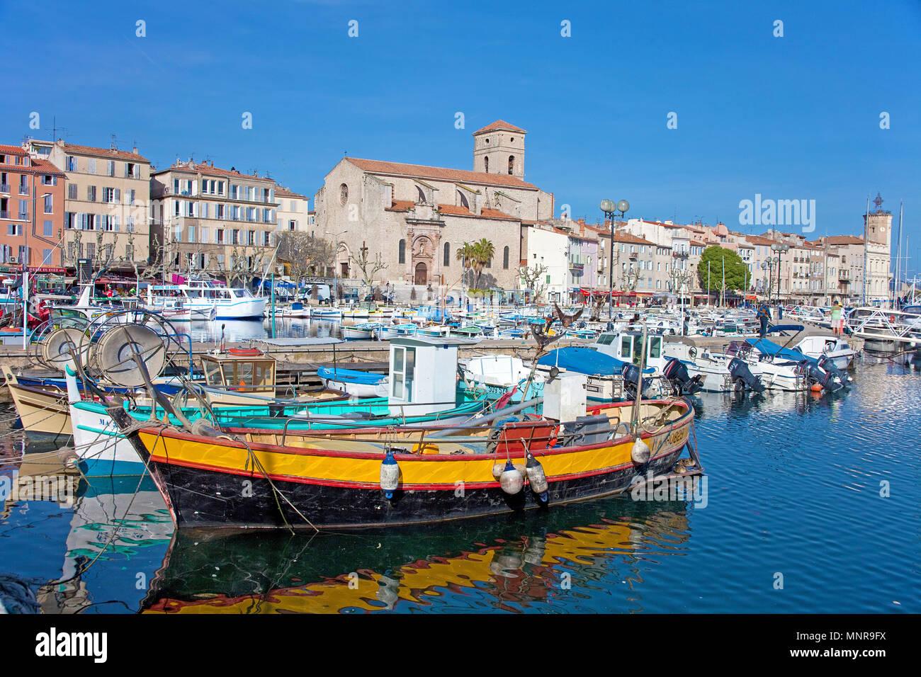Harbour of La Ciotat, Bouches-du-Rhone, Provence-Alpes-Côte d'Azur, South France, France, Europe Stock Photo