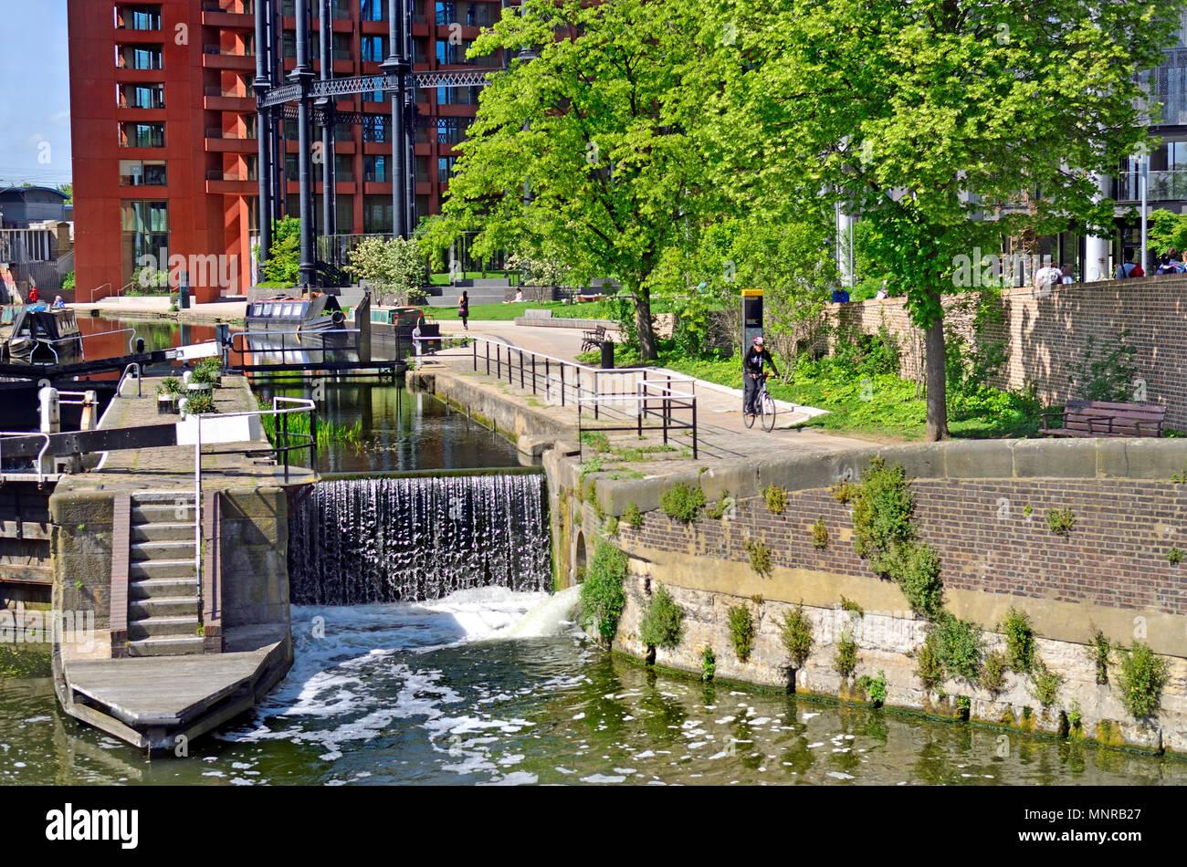 St Pancras Lock, Regent's Canal,  Kings Cross, London, England, UK. - Stock Image