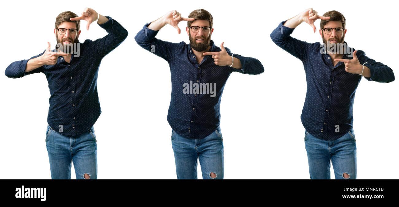 Collection Hipster Men Beard Hair Stock Photos & Collection Hipster ...