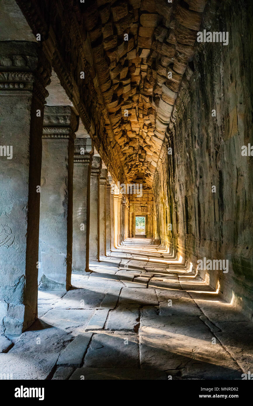 Angkor Wat temple in Siem Reap in Cambodia - Stock Image