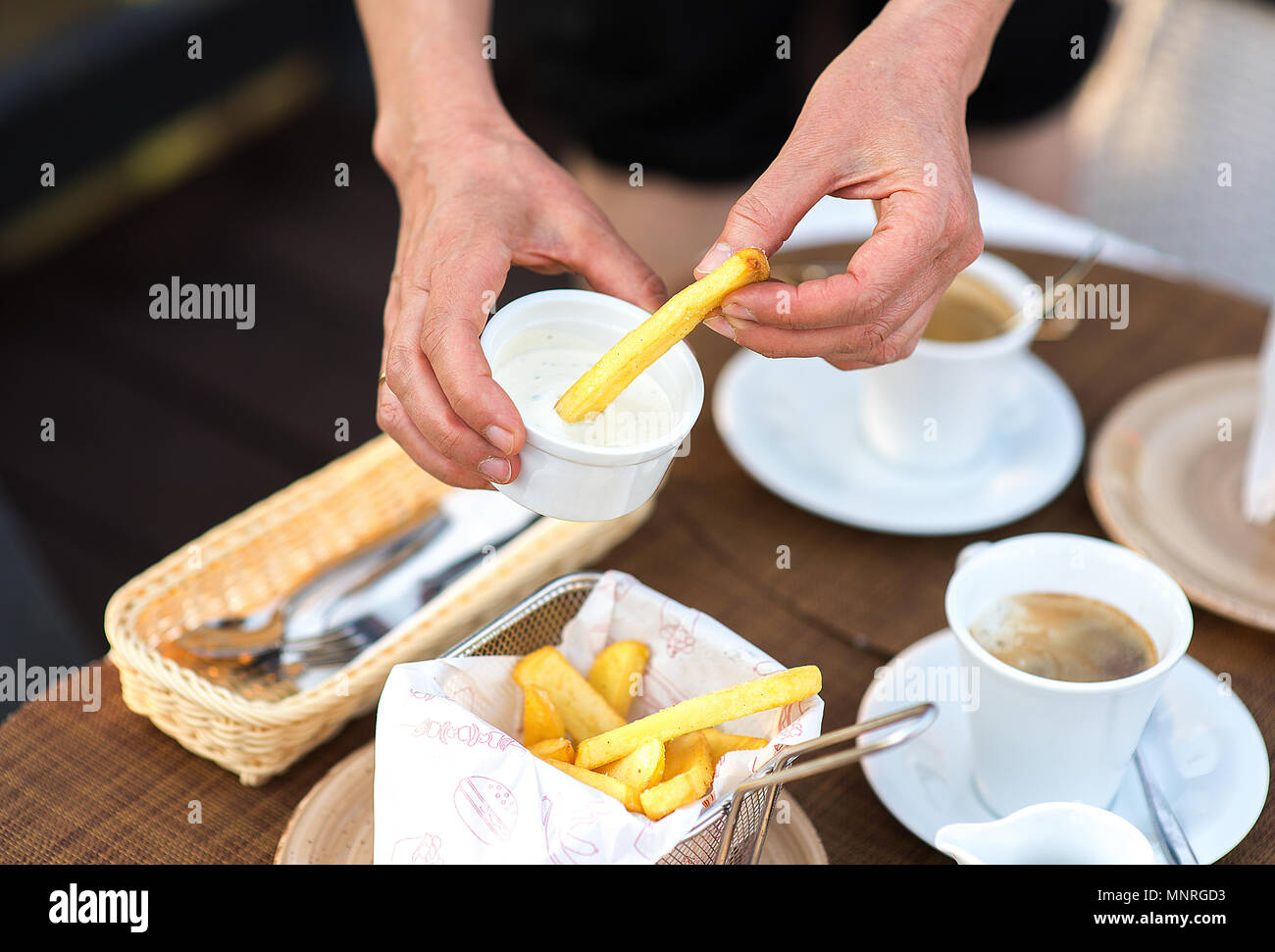 fresh french fries - Stock Image