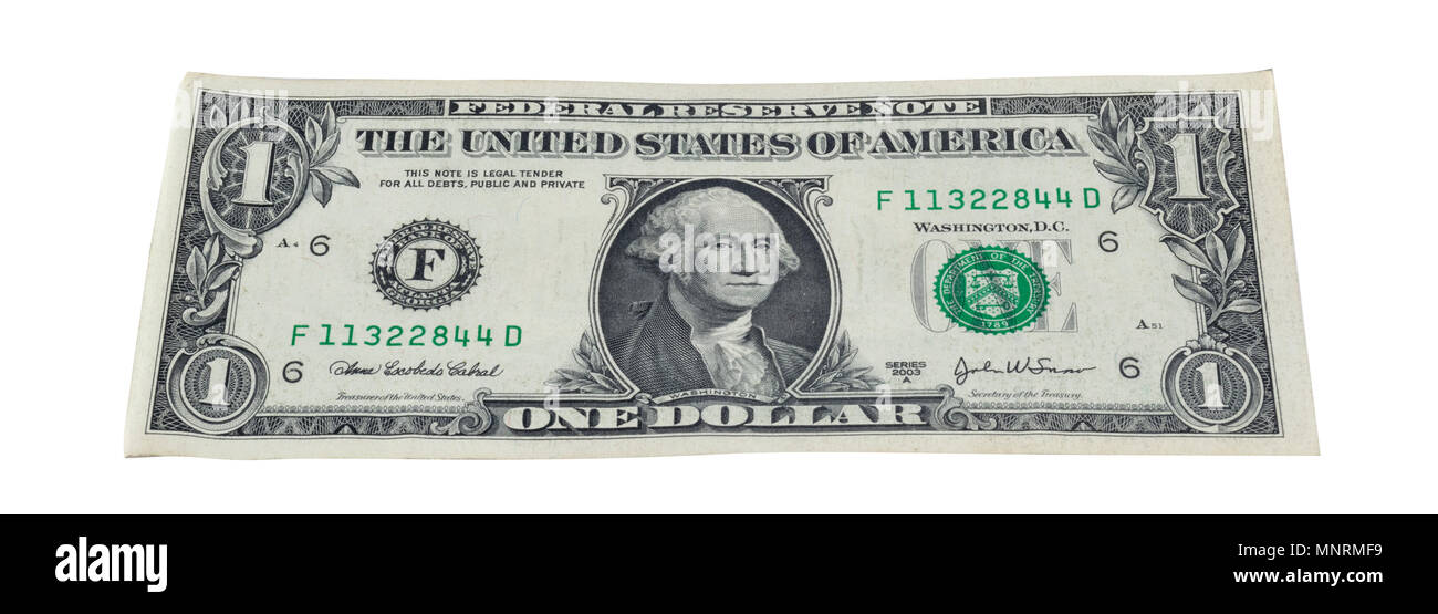 Currency note of United states of America - Stock Image