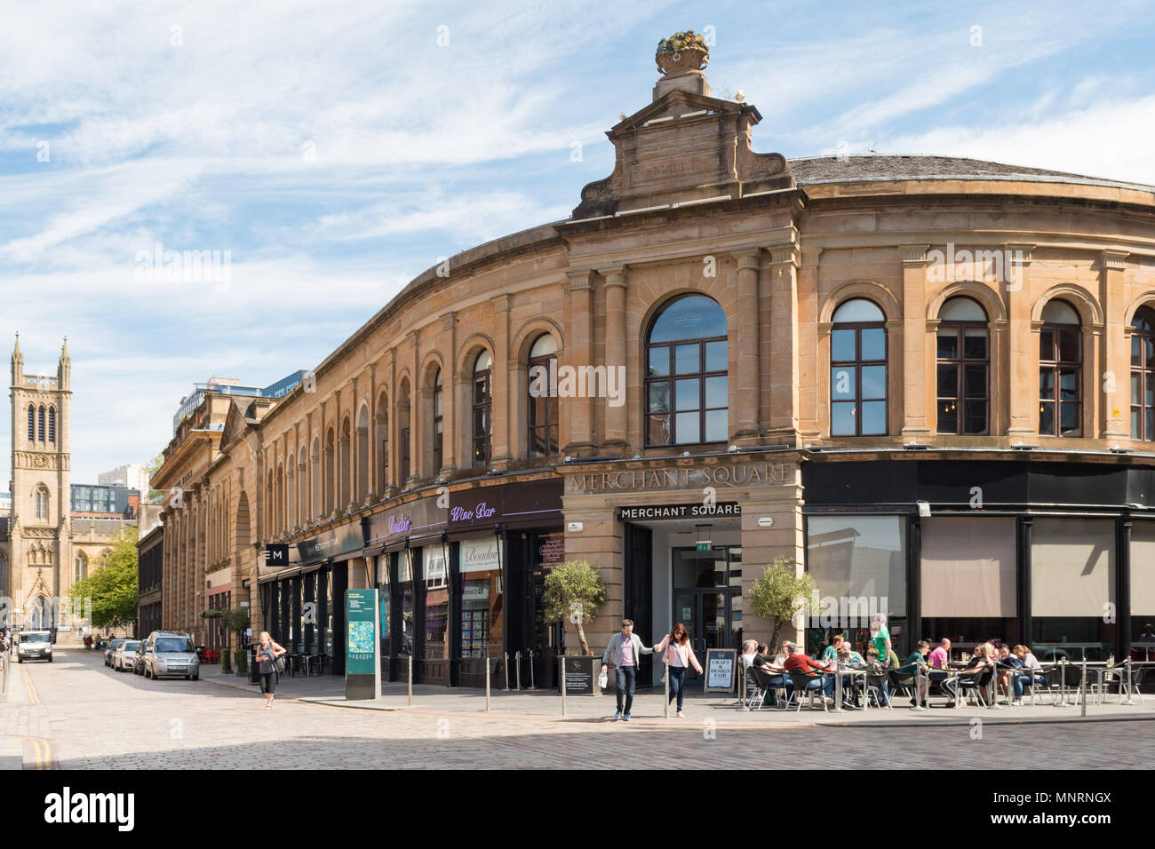 Merchant Square - bars, restaurants and entertainment in Glasgows Merchant City, Scotland, UK - Stock Image
