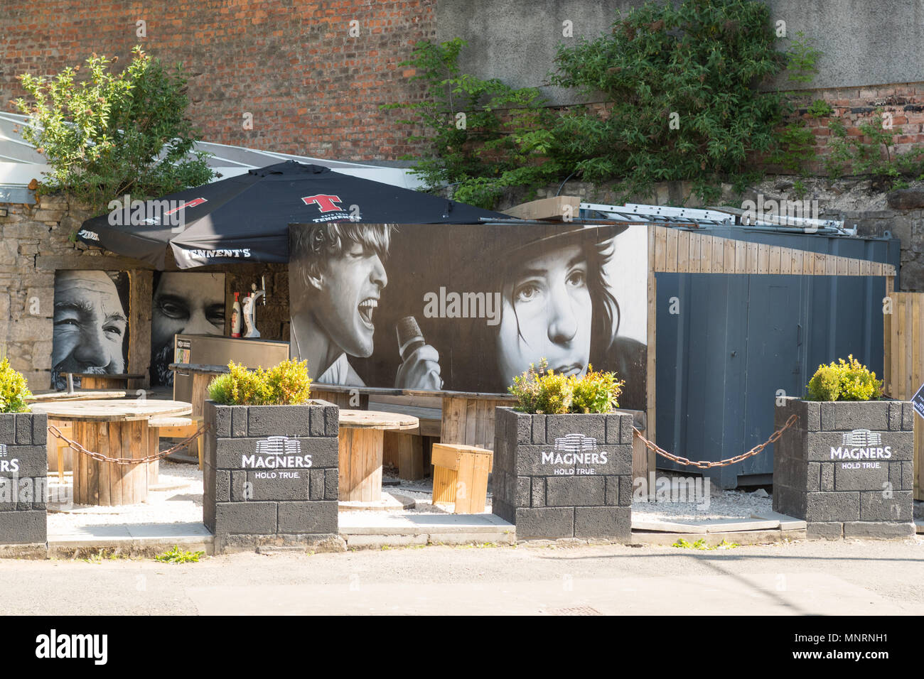 The Clutha beer garden, Glasgow, Scotland, UK - Stock Image