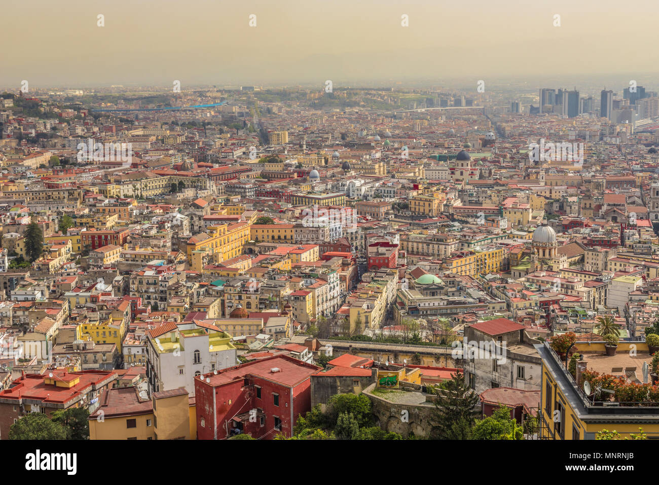 City view of Naples Italy - Stock Image