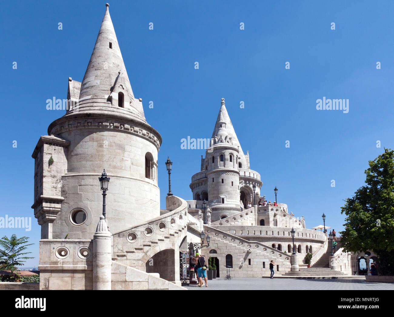Fisherman's Bastion, Buda Hill, Budapest, Hungary. - Stock Image