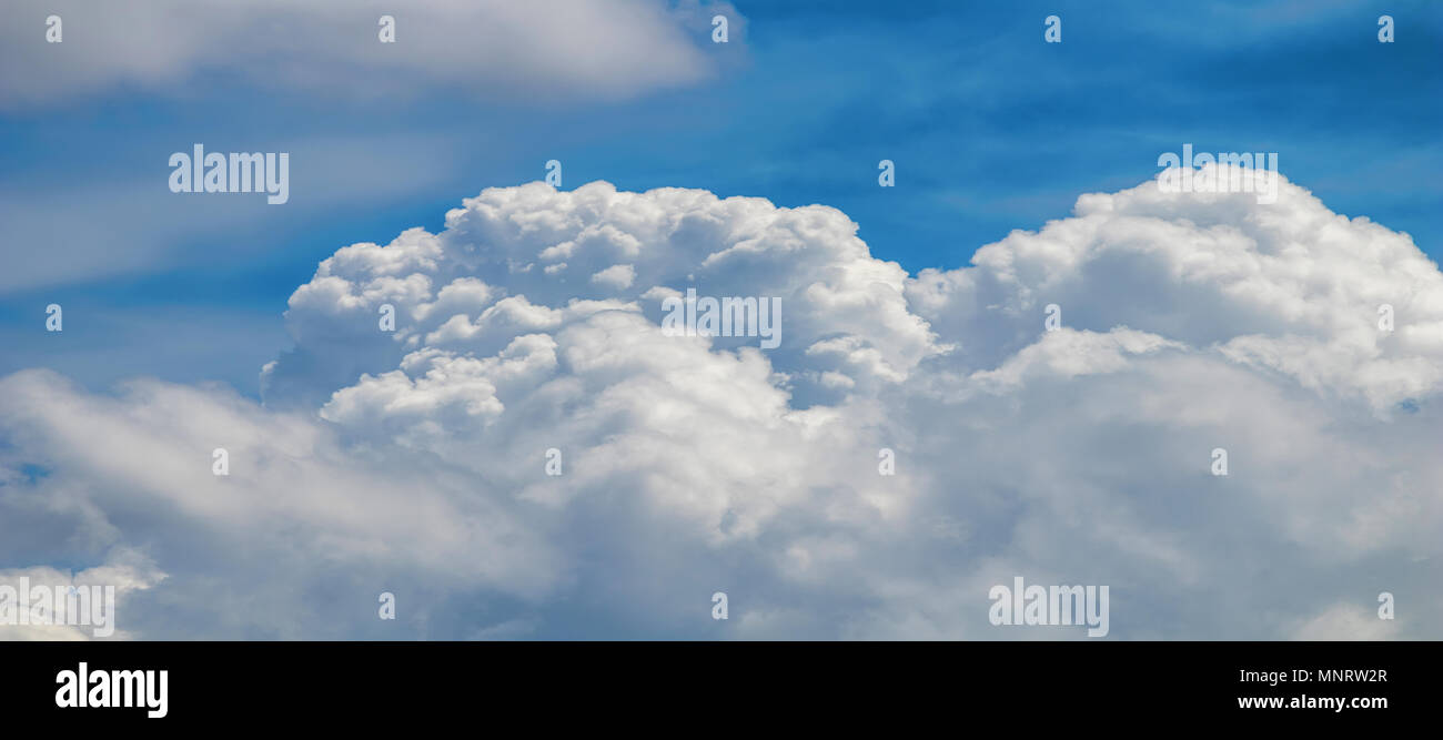Clouds formation, cloudscape. Blue sky with clouds. Stock Photo