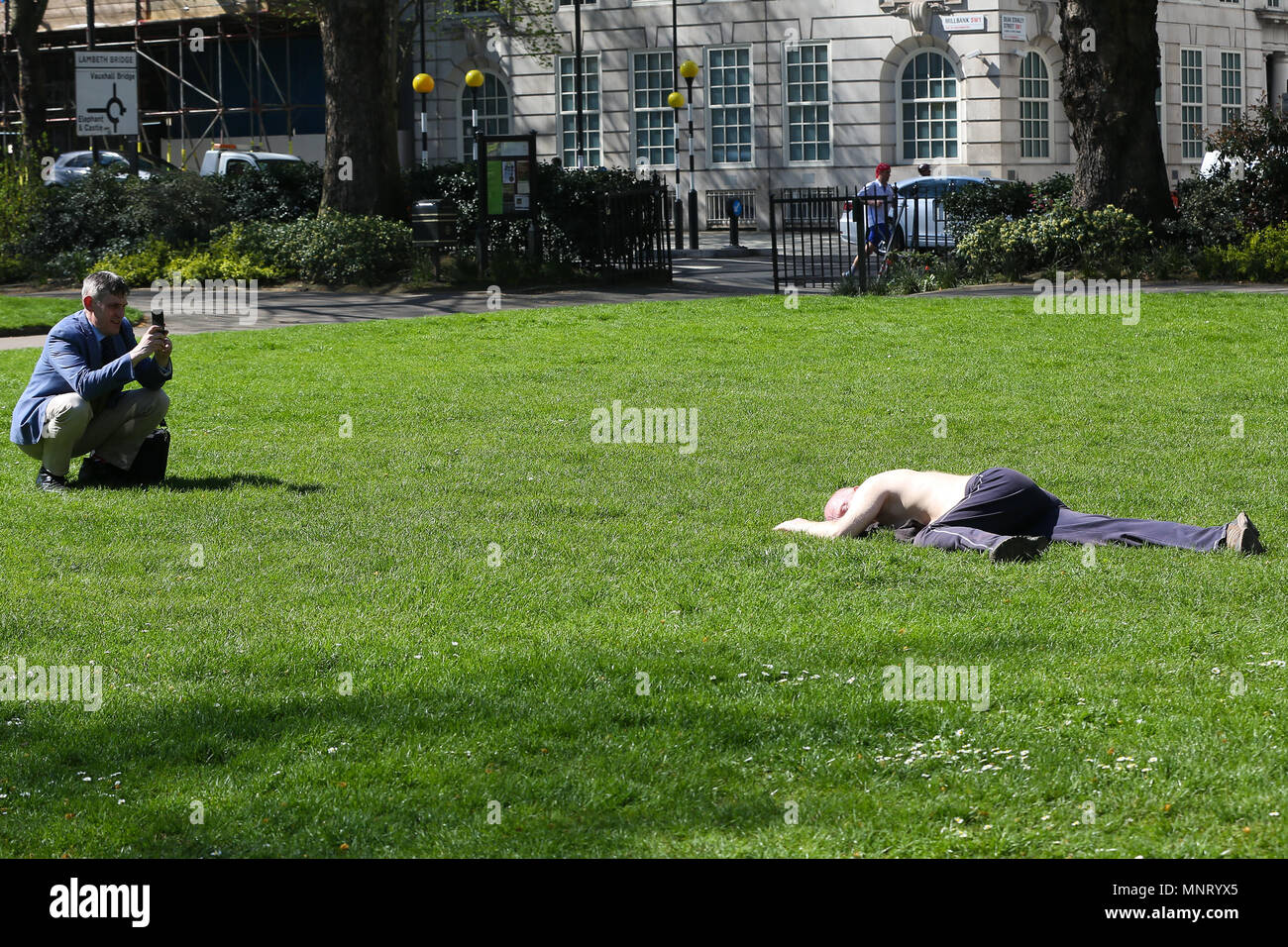 People Enjoy The Warm Weather In London Heatwave In London And South East As Temperatures Are