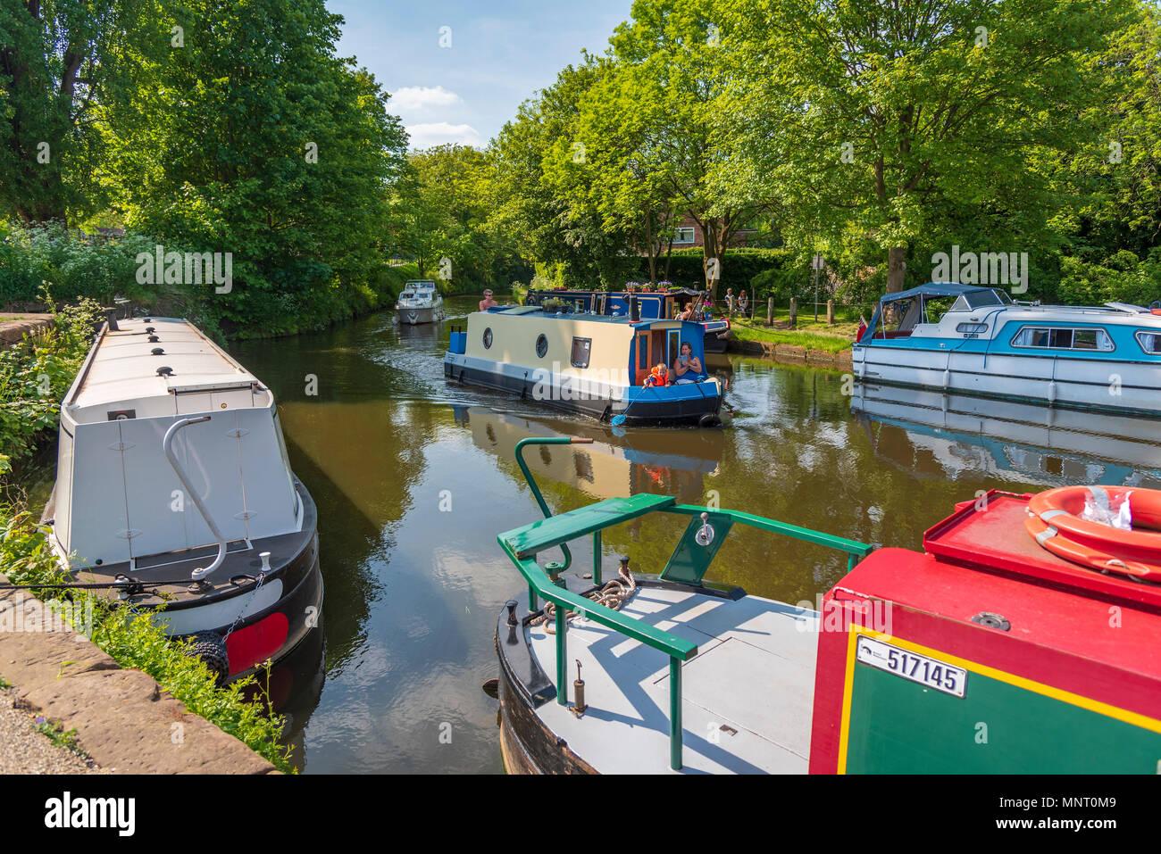 Lymm. Cheshire. North West England. Bridgewater canal. - Stock Image