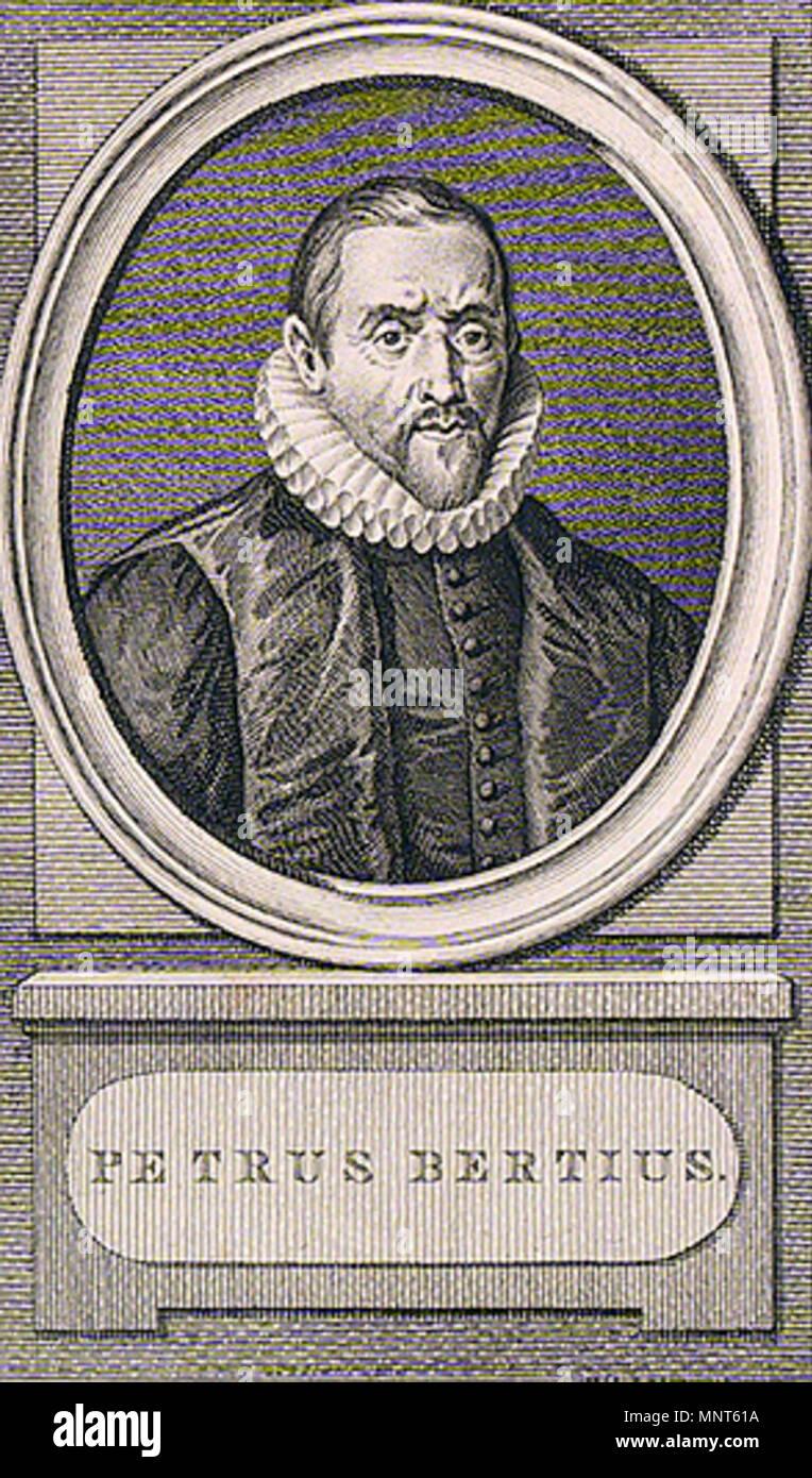 . English: Petrus Bertius, cartographer. Engraving by Reinier Vinkeles (1787) after I. Buys. 1787. Reinier Vinkeles after I. Buys 979 Petrus Bertius by Vinkeles 1787 - Stock Image