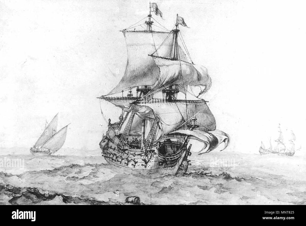 Great Vessel of War   1670s.   988 Pierre Puget - Great Vessel of War - WGA18476 - Stock Image