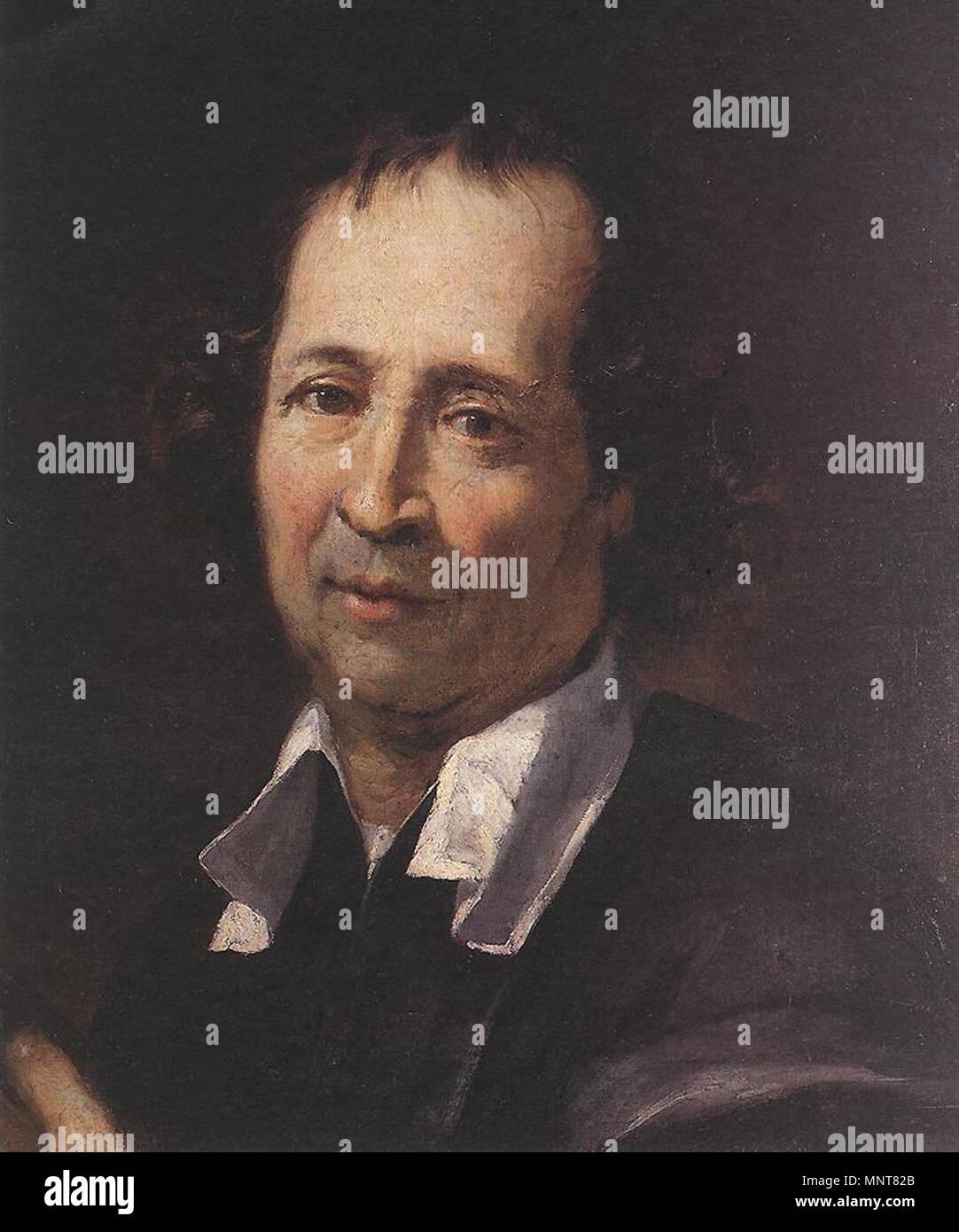 English: self-portrait Français: auto-portrait   between 1668 and 1669.   988 Pierre Puget - Self-portrait - WGA18487 - Stock Image