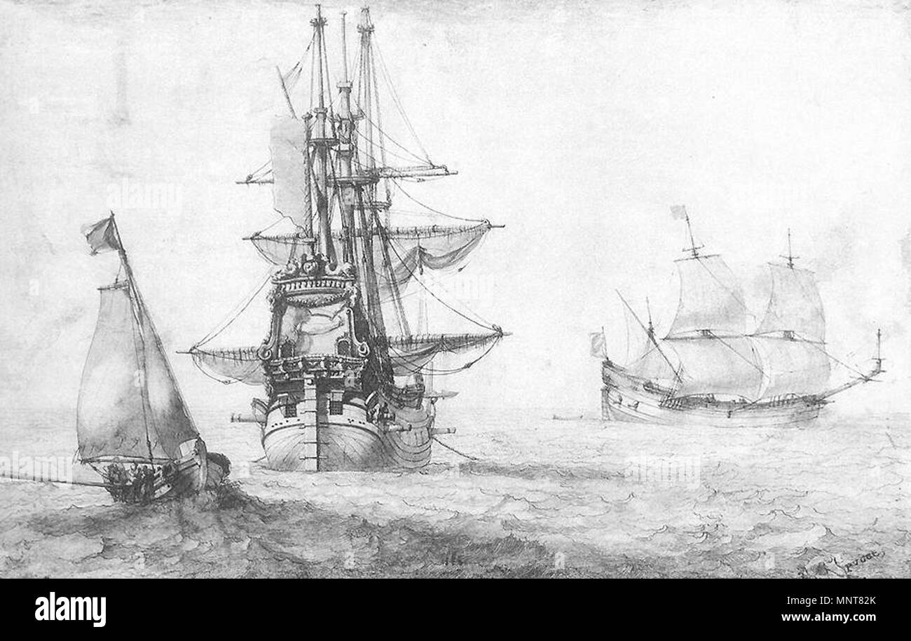 View on the Sea   circa 1670.   988 Pierre Puget - View on the Sea - WGA18478 - Stock Image