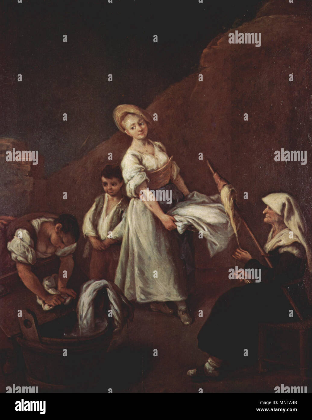 The Washerwomen   circa 1740.   996 Pietro Longhi 038 - Stock Image