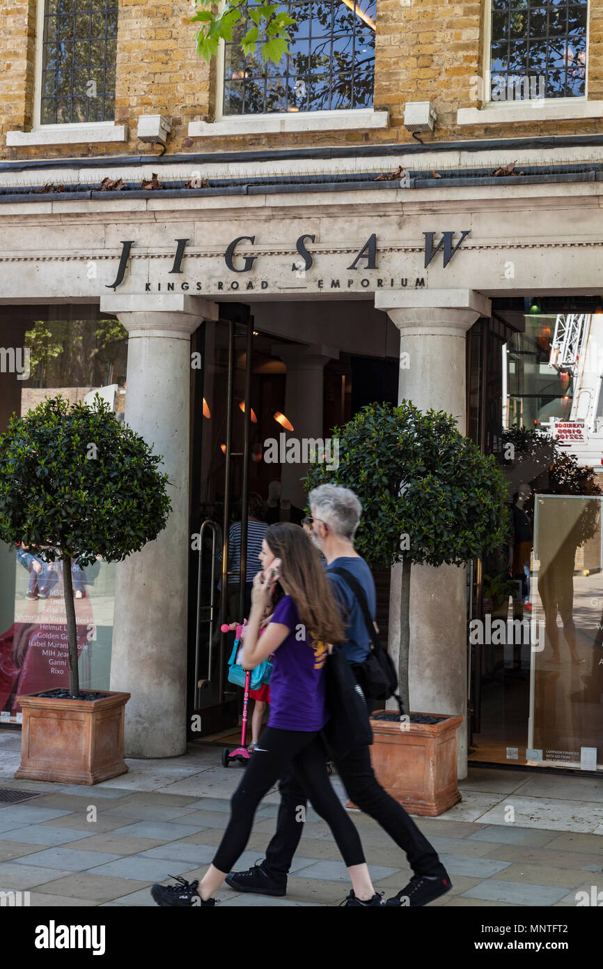 JIgsaw clothes store on Kings Road in Chelsea, London - Stock Image