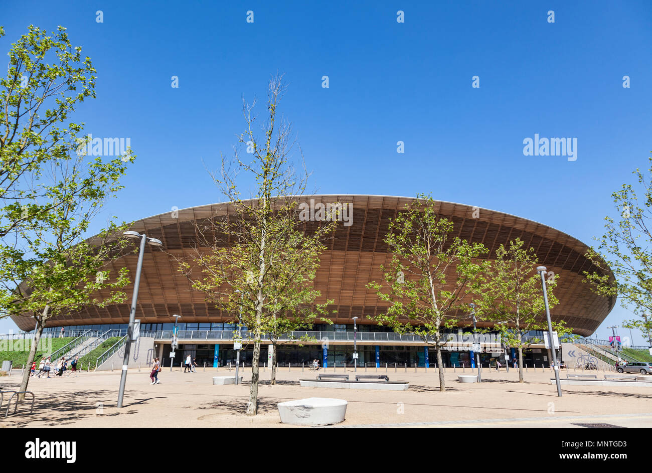 Lee Vally Velopark at the Queen Elizabeth Olympic park in London - Stock Image