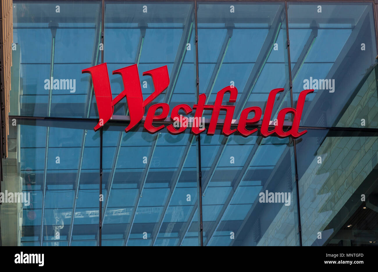 Westfield shopping centre at Stratford, London - Stock Image