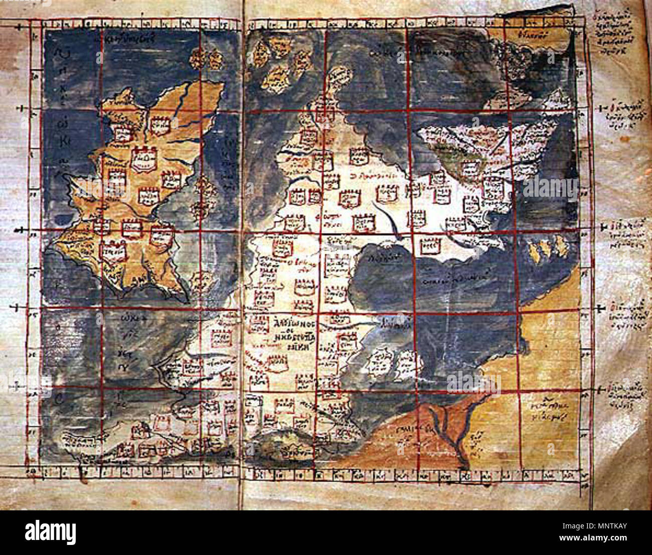 14th Century Map Of Europe.English The 1st Map Of Europe A Greek Language Map Of Hibernia