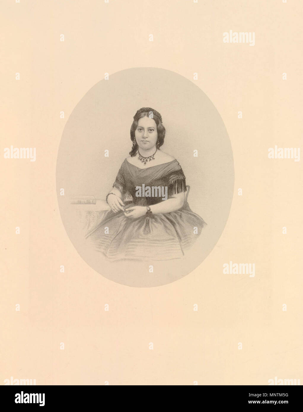 . English: Queen Emma of Hawaii by Richard James Lane, lithograph, circa 1825-1850 . circa 1861.   Richard James Lane (1800–1872)   Alternative names Richard J. Lane  Description English engraver and lithographer  Date of birth/death 16 February 1800 21 November 1872  Location of birth Berkeley Castle  Authority control  : Q7326816 VIAF:59348682 ISNI:0000 0000 6658 4871 ULAN:500120153 LCCN:n81054202 SUDOC:119740117 WorldCat 1035 Queen Emma of Hawaii by Richard James Lane, lithograph, circa 1825-1850 - Stock Image