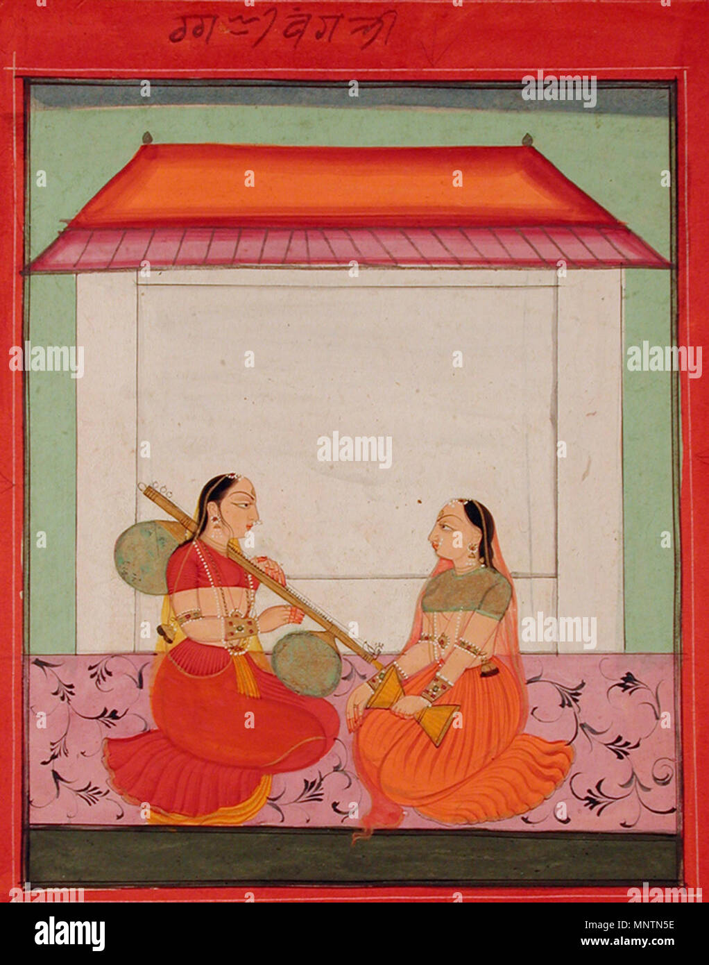 . English: Series Title: Ragamala Suite Name: Ragamala Creation Date: ca. 1730 Display Dimensions: 8 21/32 in. x 7 7/32 in. (22 cm x 18.3 cm) Credit Line: Edwin Binney 3rd Collection Accession Number: 1990.1081 Collection: <a href='http://www.sdmart.org/art/our-collection/asian-art' rel='nofollow'>The San Diego Museum of Art</a> . 6 September 2011, 14:33:10. English: thesandiegomuseumofartcollection 1039 Ragini Bangali (6124581557) - Stock Image