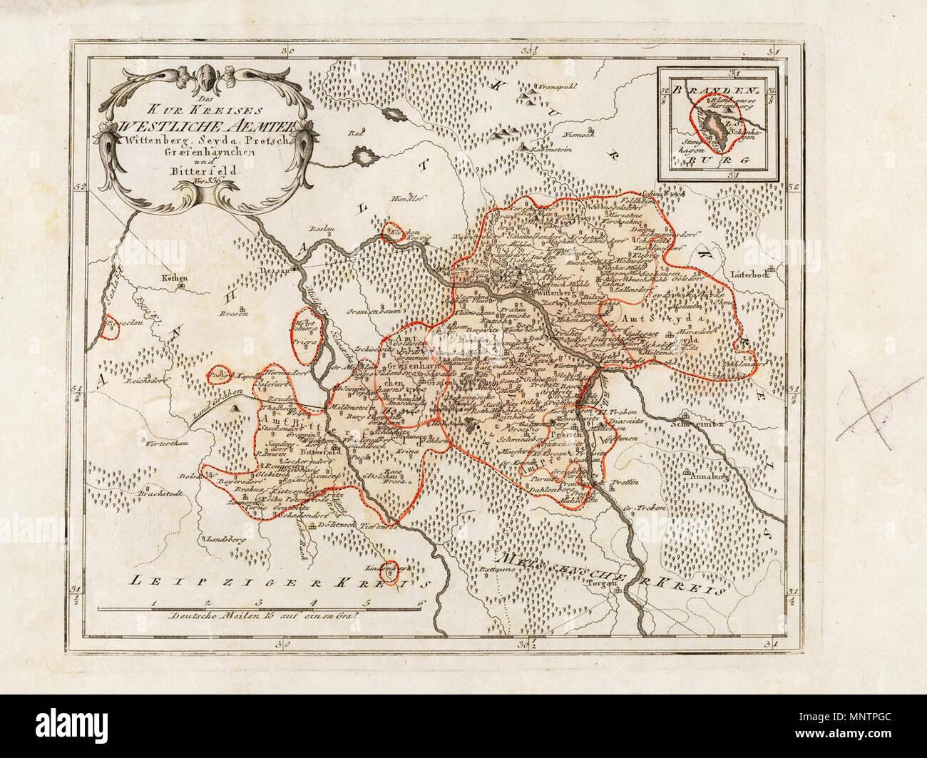 Deutsch: Des Kurkreises Westliche Aemter Wittenberg, Seyda, Pretsch ...