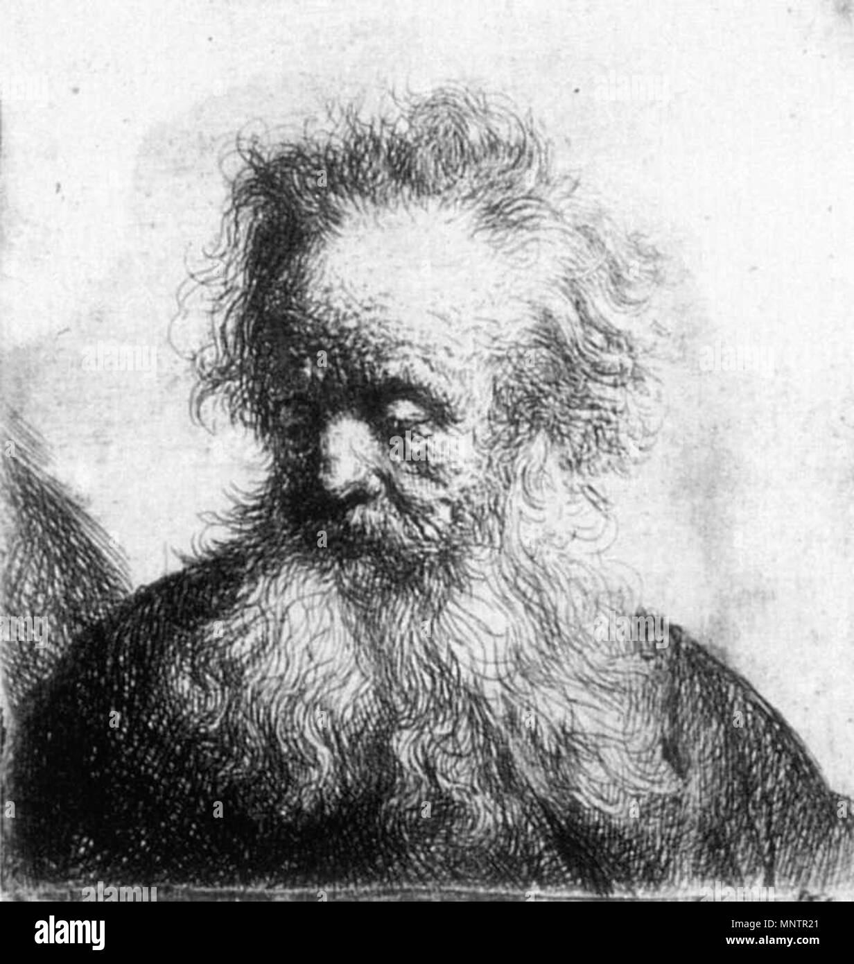 Old Man With Flowing Beard Looking Down Left 1631 1049 Rembrandt Old Man With Flowing Beard Looking Down Left Wga19072 Stock Photo Alamy