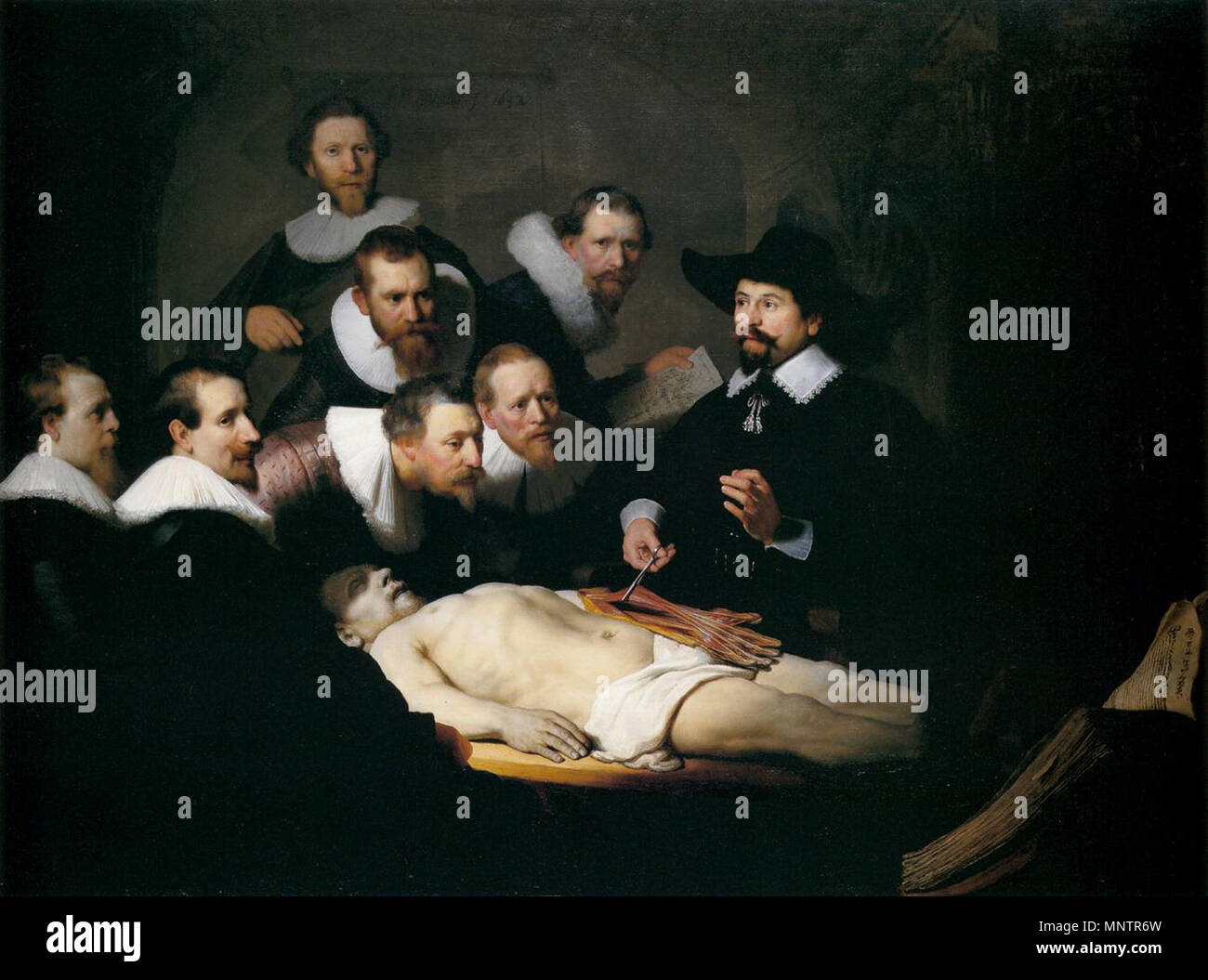 The Anatomy Lesson of Dr. Nicolaes Tulp 1632. 1050 Rembrandt - The ...