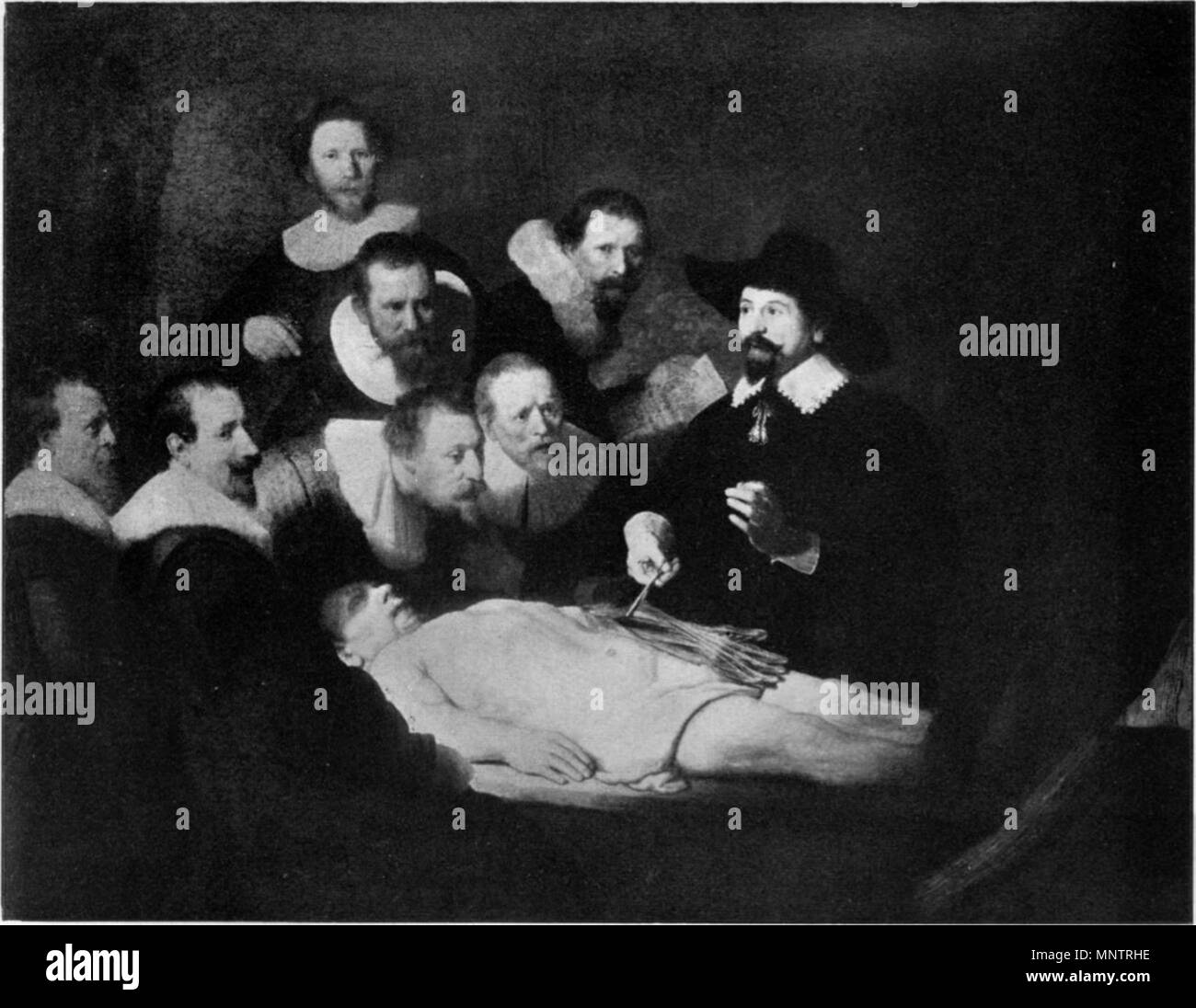 The Anatomy Lesson Of Dr Nicolaes Tulp Black And White Stock Photos