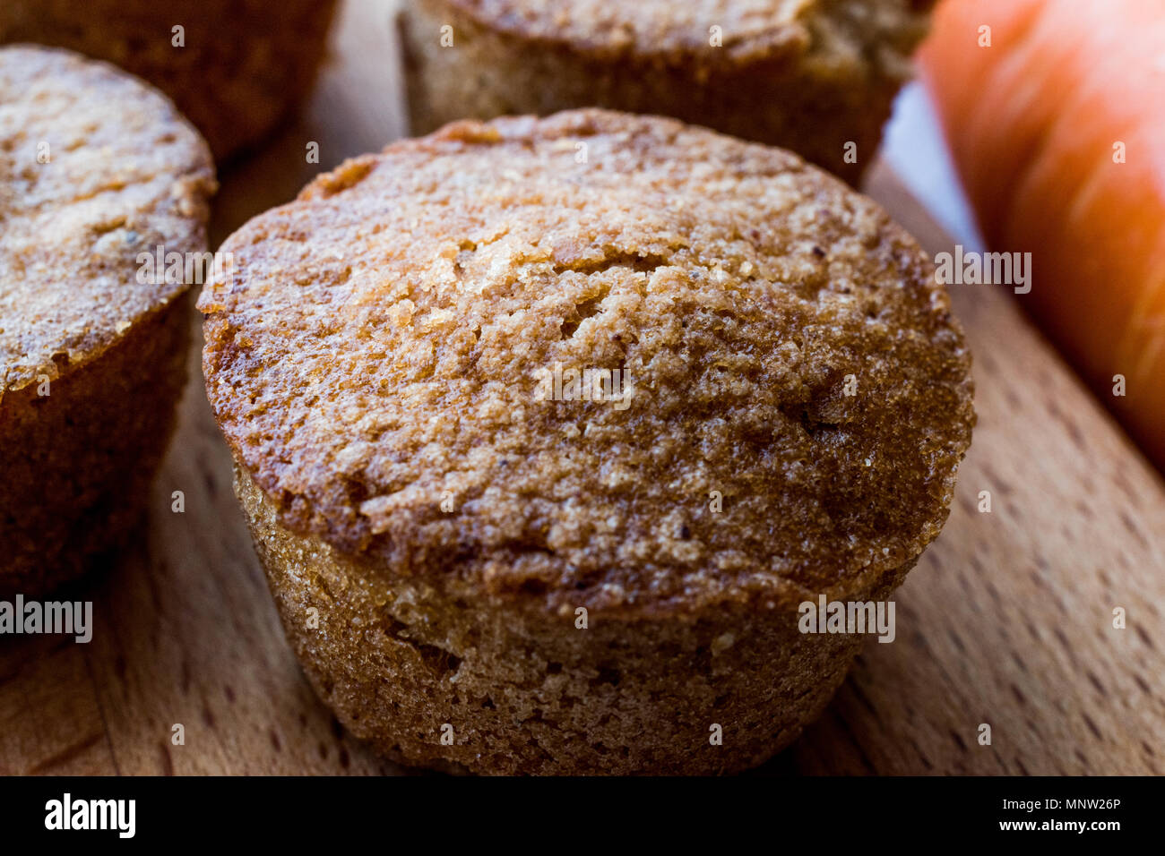 Mini Cakes with Carrot and Cinnamon. Dessert Concept. - Stock Image