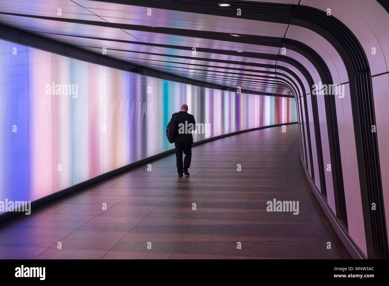 King's Cross Station Lightwall Tunnel, King's Cross Station, London, England, UK - Stock Image