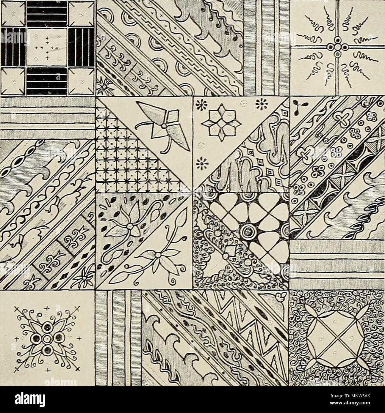 """""""De inlandsche kunstnijverheid in Nederlandsch Indië"""" (1912) Stock Photo"""