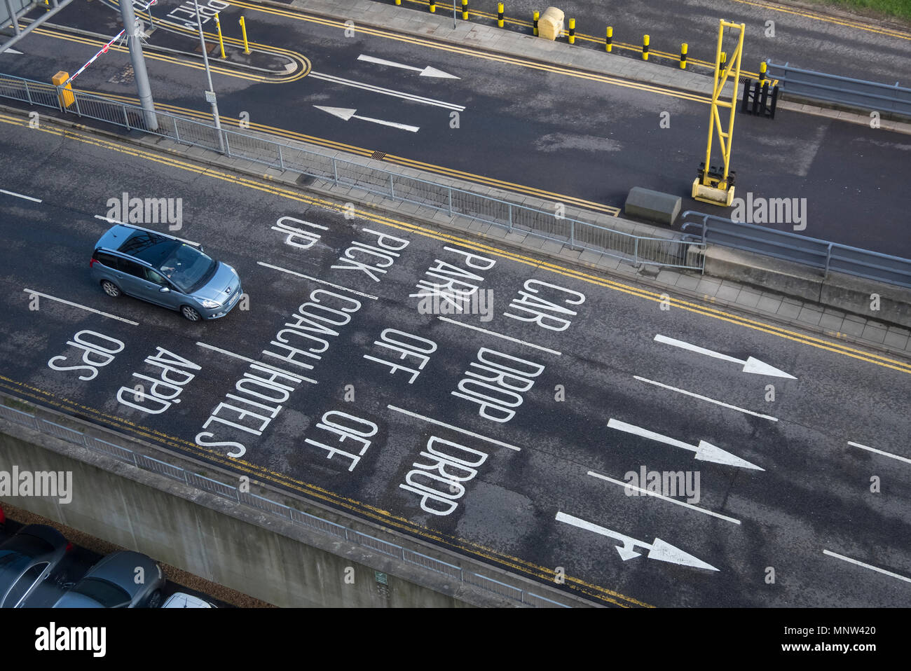 Driving Confusion, Airport Car Parking, London Gatwick Airport, England, UK - Stock Image