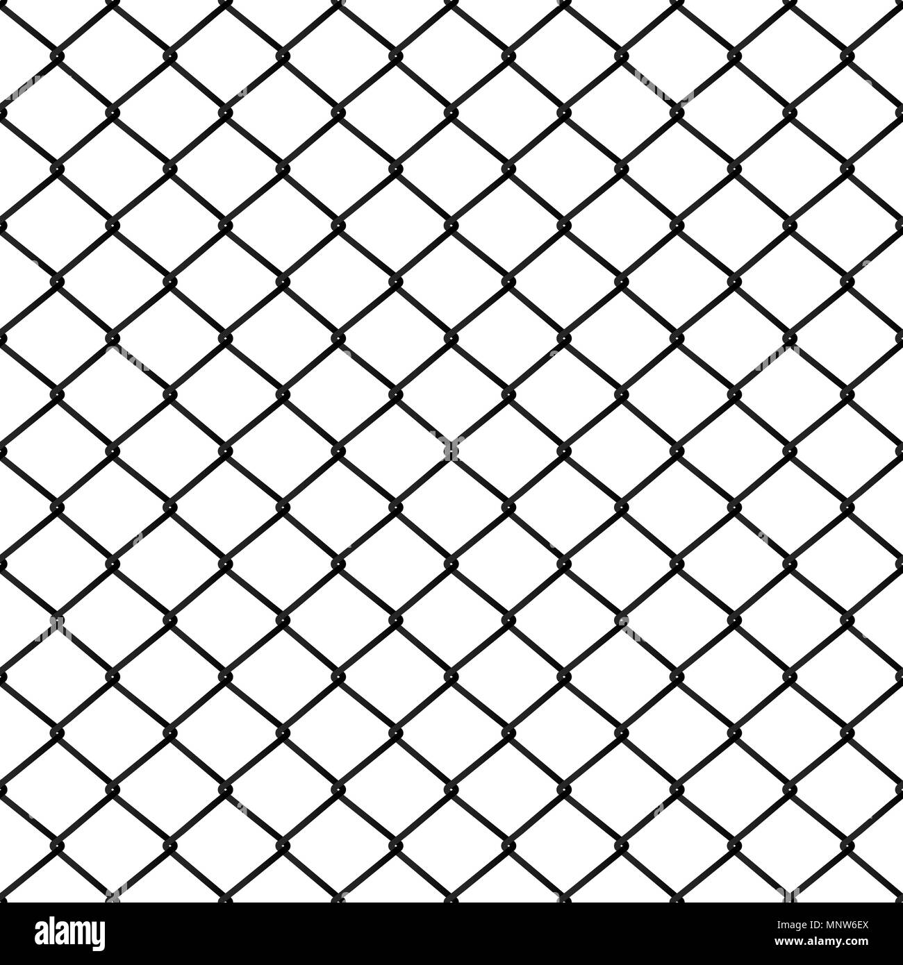 Seamless metal mesh. Wire fence isolated on the white background ...