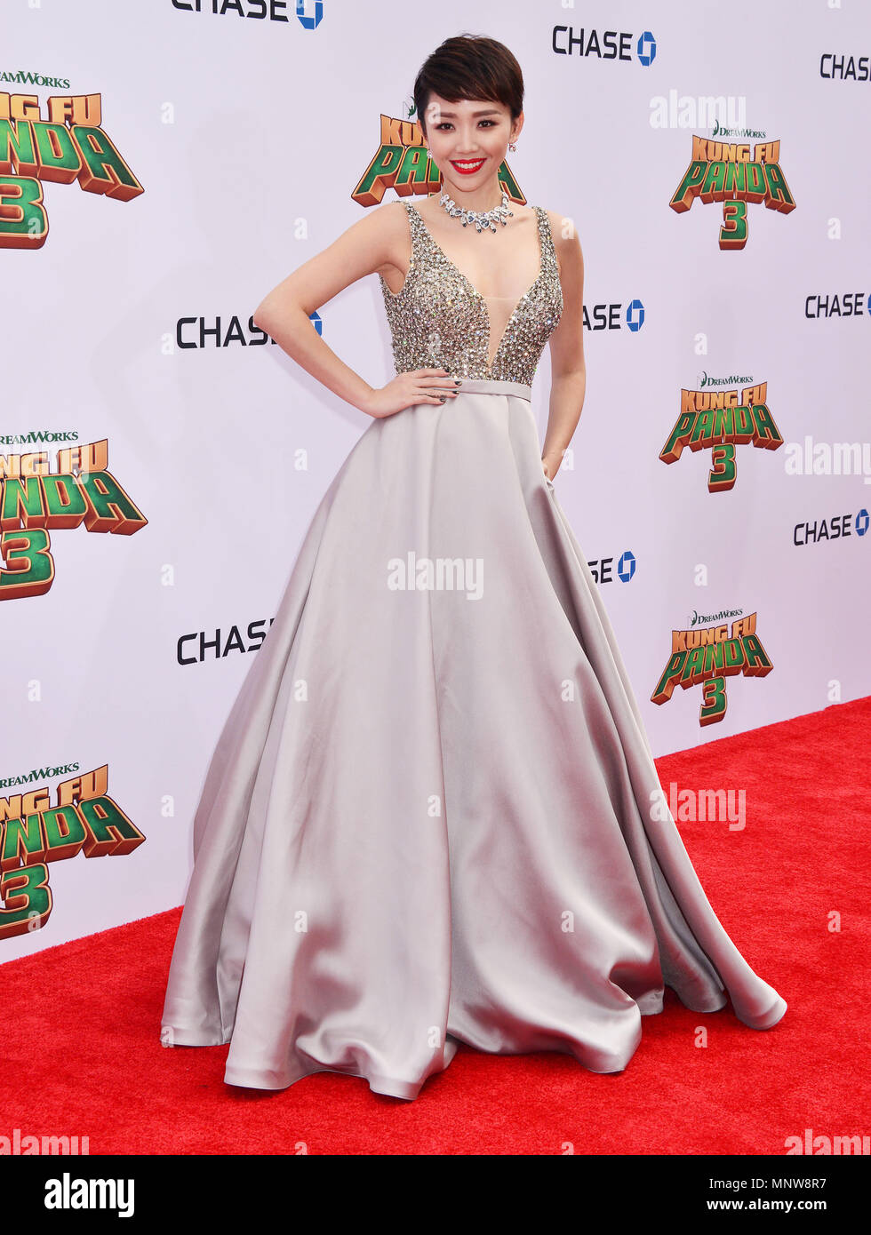 Toc Tien 075  at the Kung Fu Panda Premiere at the TCL Chinese Theatre in Los Angeles, January 16, 2016.-------- Toc Tien 075  --------- Event in Hollywood Life - California,  Red Carpet Event, Vertical, USA, Film Industry, Celebrities,  Photography, Bestof, Arts Culture and Entertainment, Topix Celebrities fashion /  from the Red Carpet-2016, one person, Vertical, Best of, Hollywood Life, Event in Hollywood Life - California,  Red Carpet and backstage, USA, Film Industry, Celebrities,  movie celebrities, TV celebrities, Music celebrities, Photography, Bestof, Arts Culture and Entertainment,   - Stock Image
