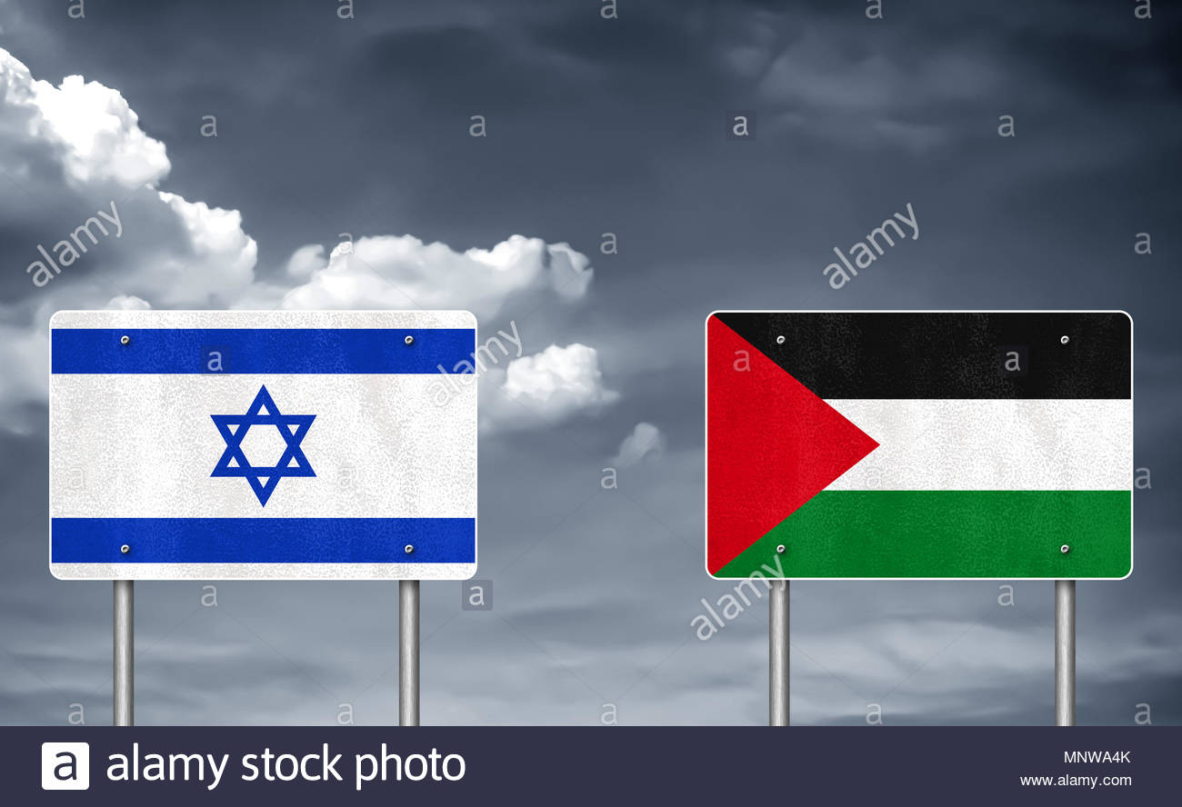 Conflict between Isreal and Palestine - Stock Image